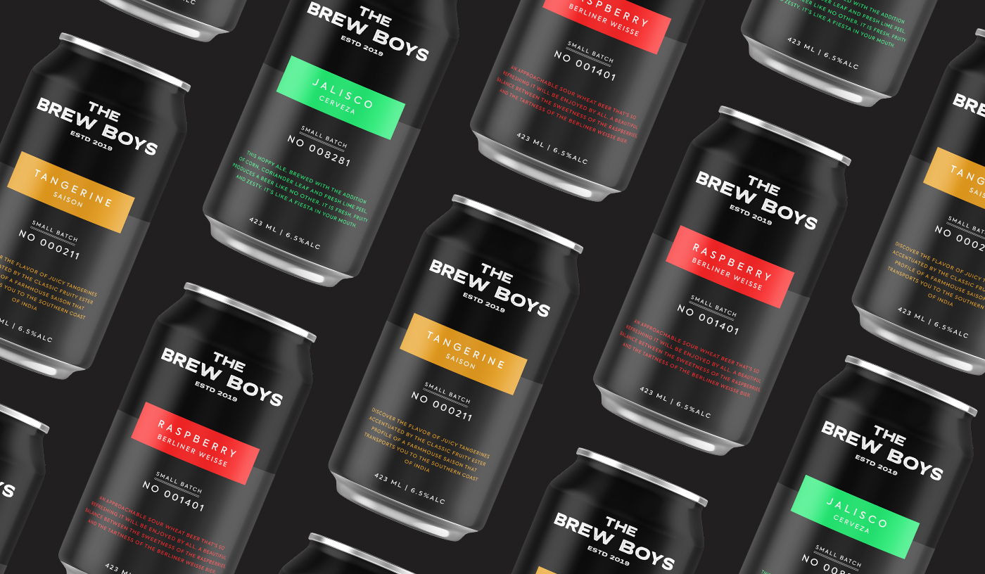 The Brew Boys Brand Identity and Packaging Design by Fuel Design Co.