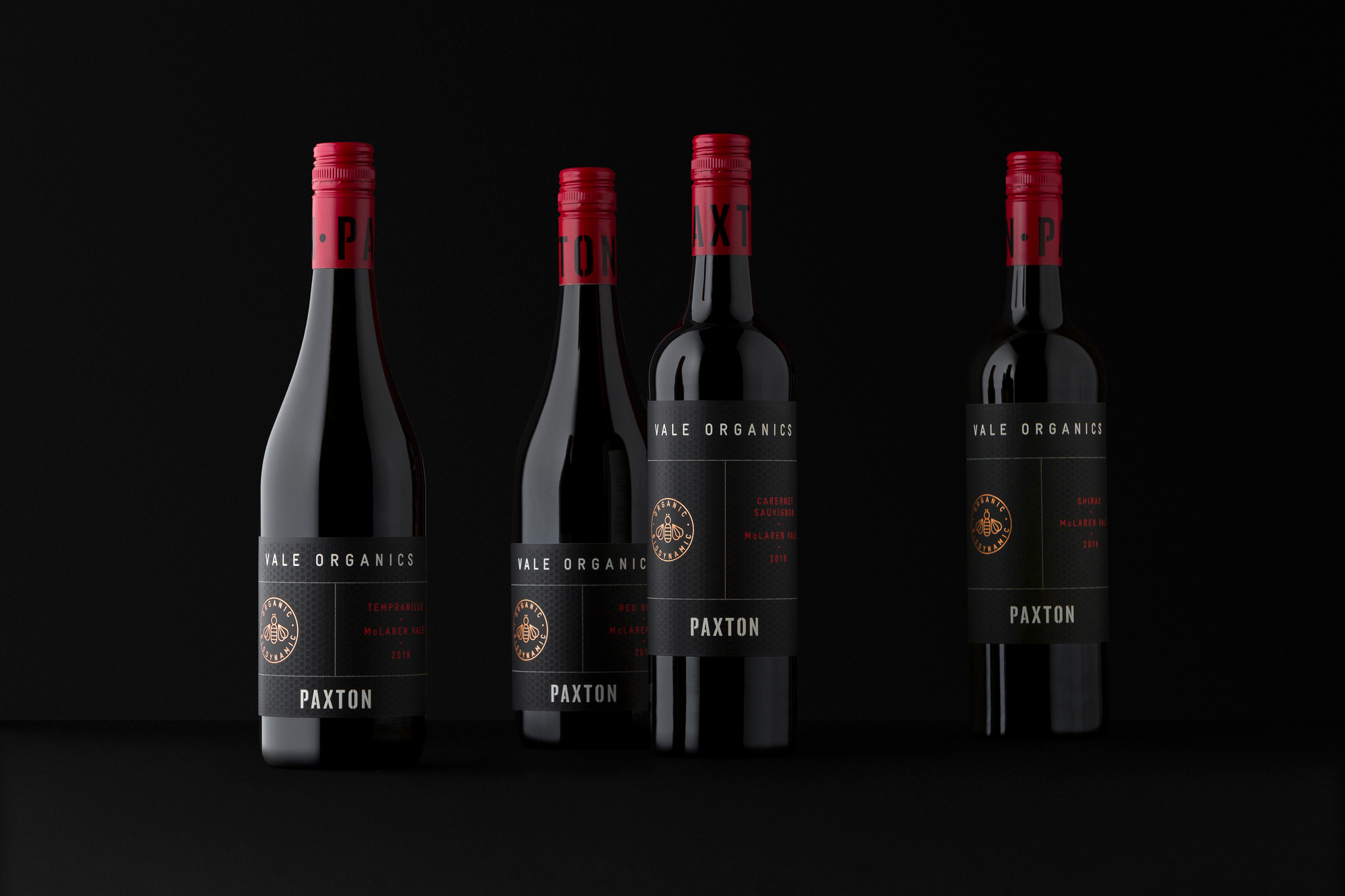 Paxton Vale Organics Wine Packaging Designed by David Byerlee Design