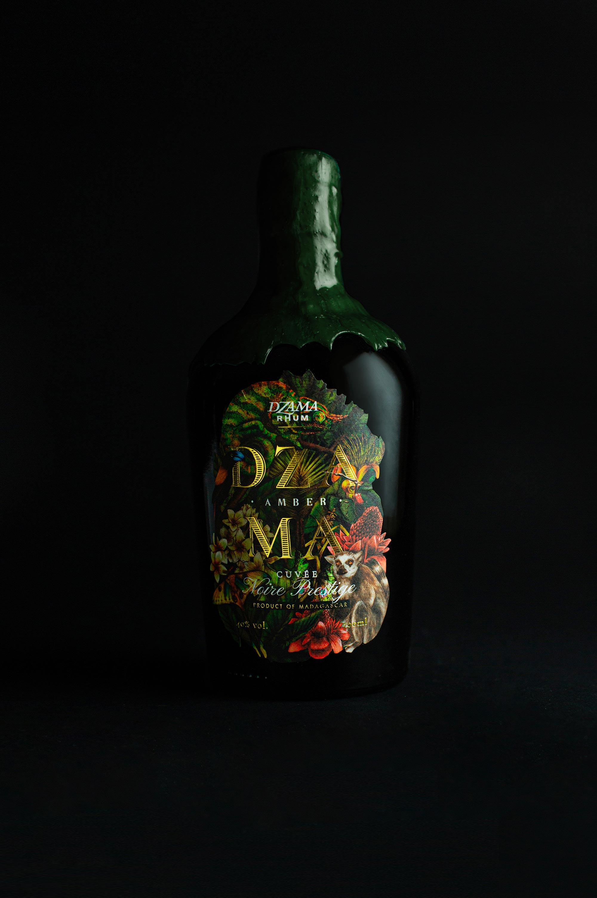 Dzama Rhum Concept Bottle Designed by Studio Boam