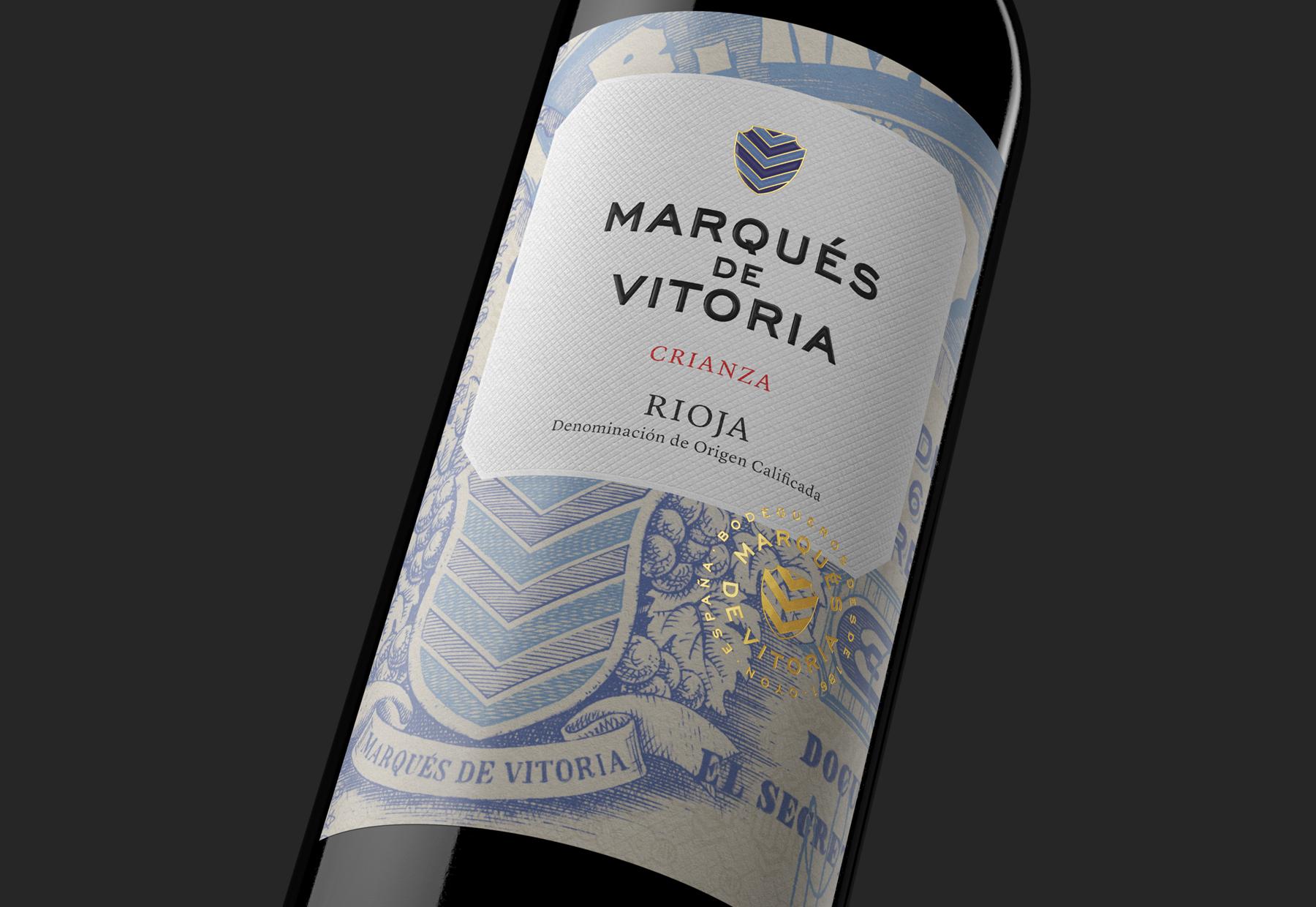 """Marqués de Vitoria's"" Life Told Through a Wine Label by Moruba"