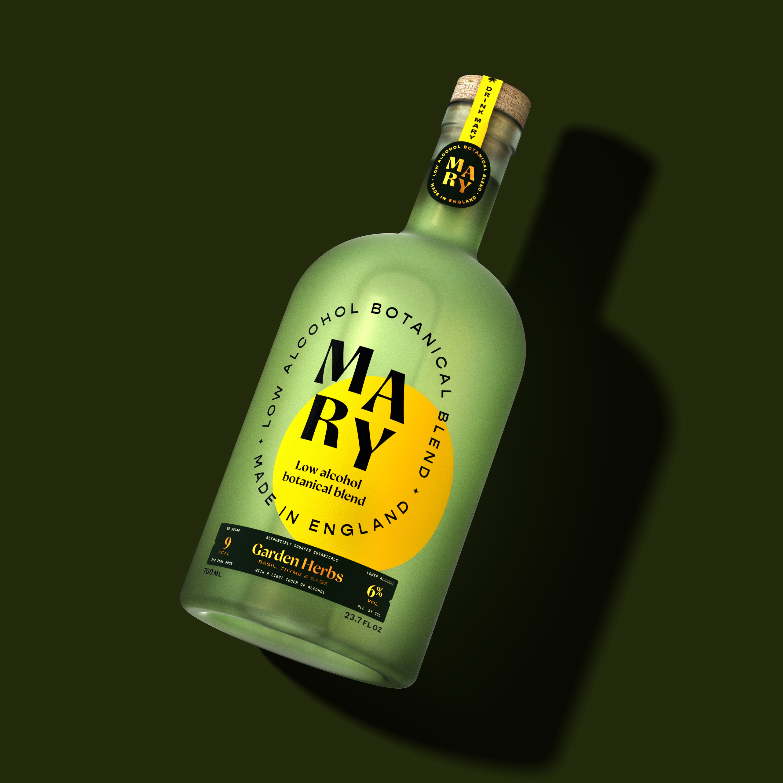 Studio Chong Create New Brand and Packaging Design for Mary, a Low Alcohol Botanical Blend