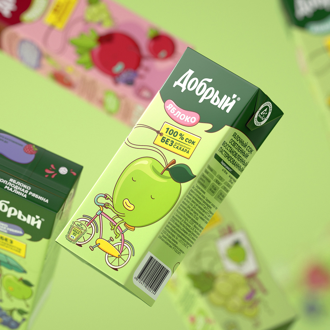 Berries and Fruits Come to Life in the New PG Design for Dobry Juices