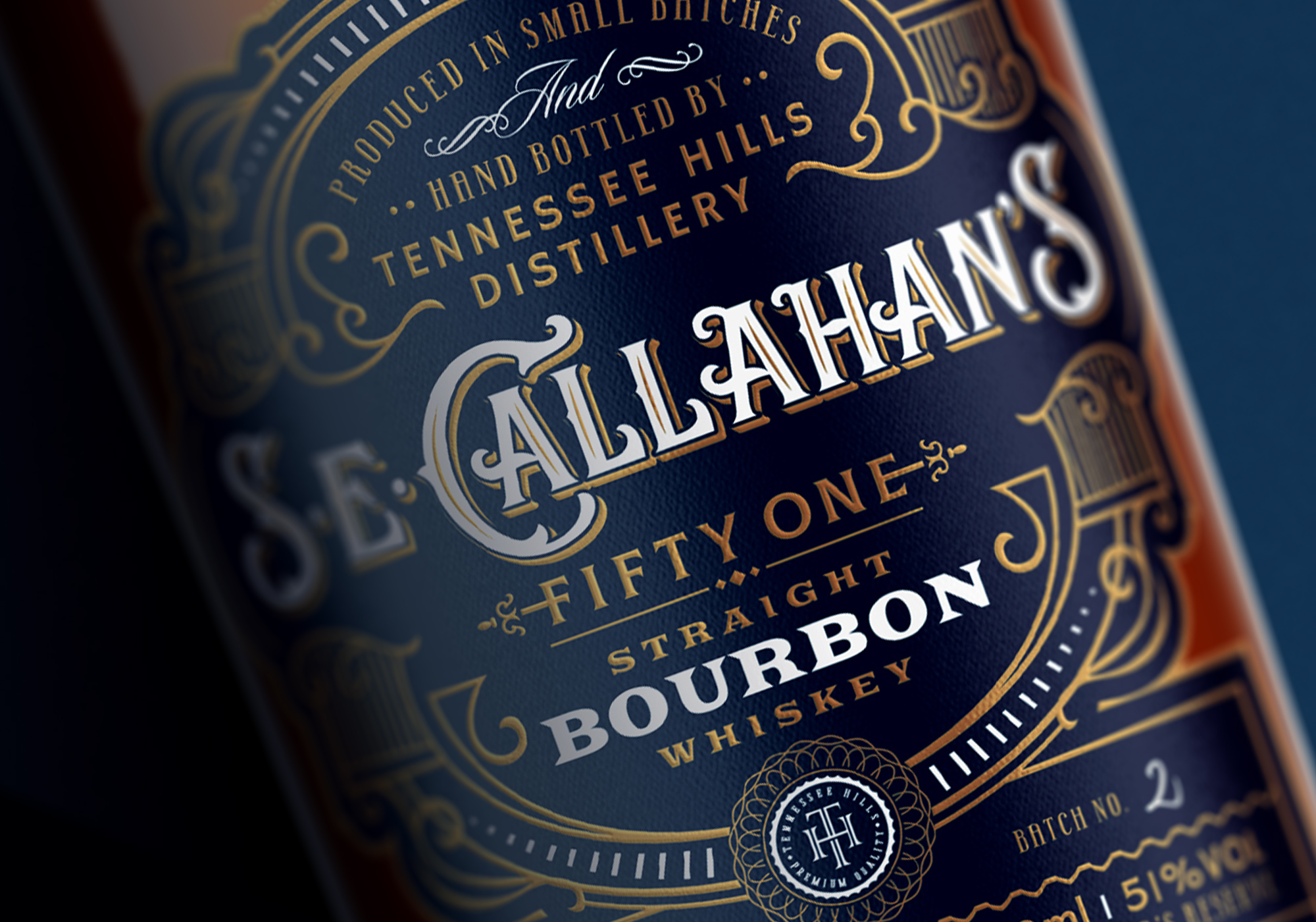 Widakk Design Packaging Labels for S.E.Callahan's Straight Bourbon Whiskey