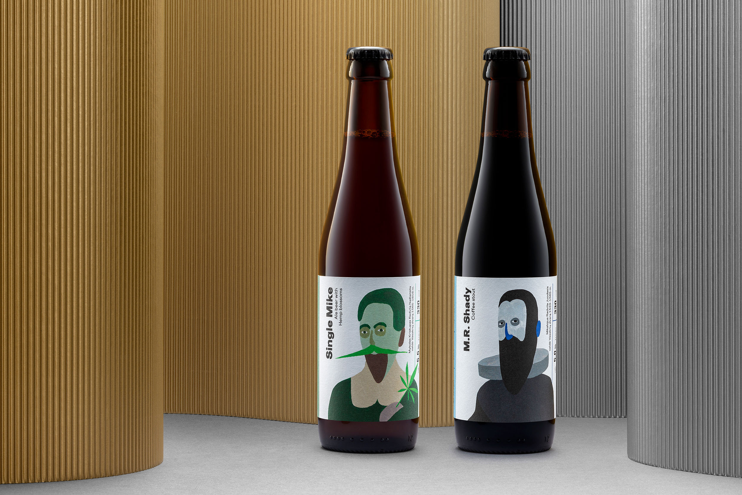 Folk Agency Creates Beer Labels that Tell the History of First Brewery Owners