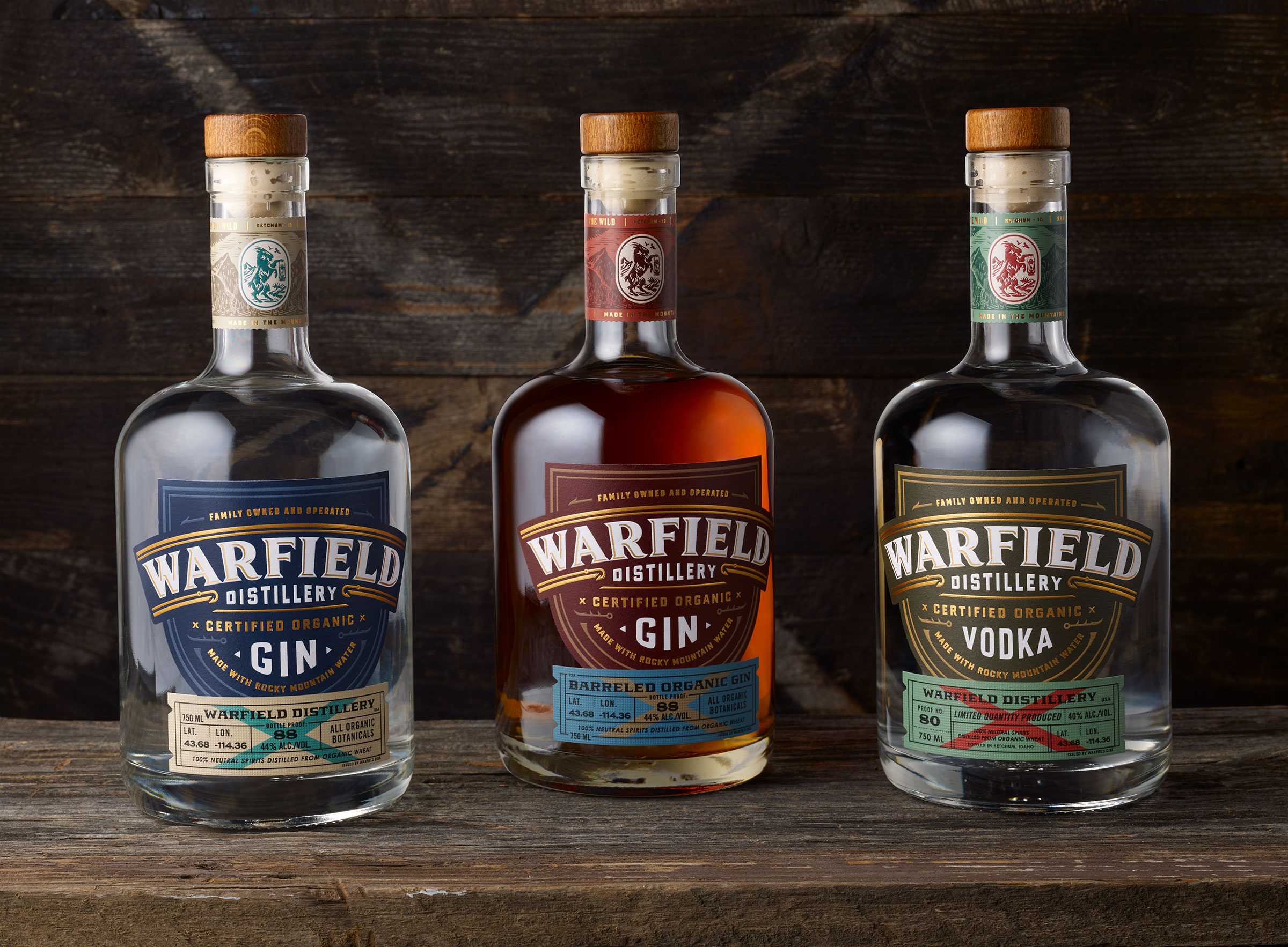 Chad Michael Studio Rebranding for Warfield Distillery Whiskey