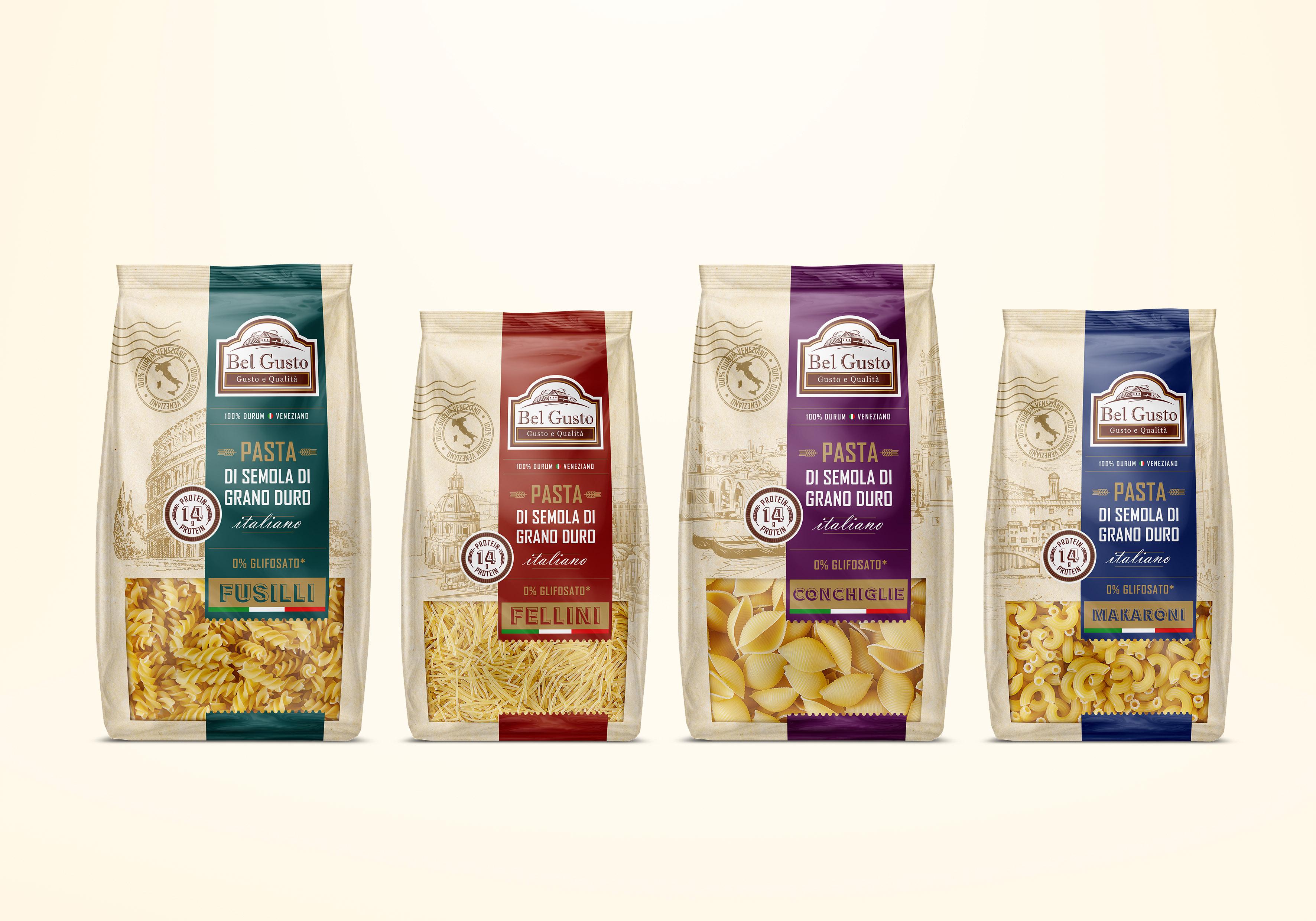 Olga Takhtarova Creates New Packaging Design for Italian Pasta