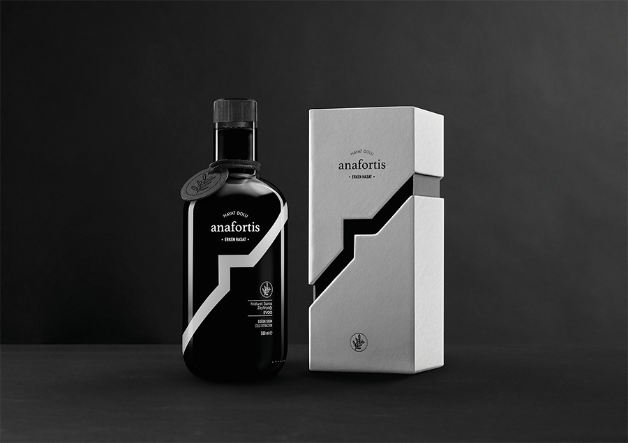 Paper Brand Identity Design Packaging for Anafortis Olive Oil
