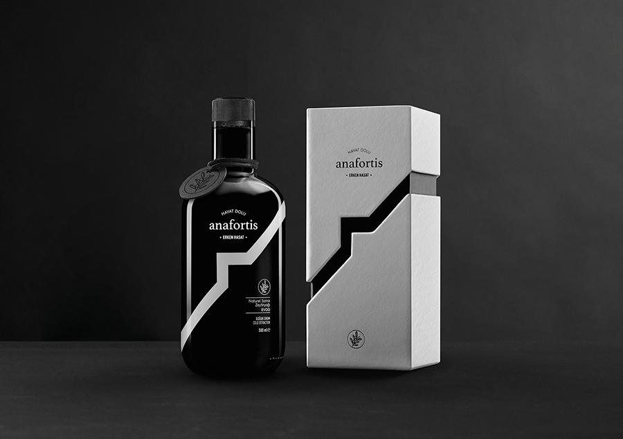Paper Brand Identity Design Packaging for Anafortis Olive Oil