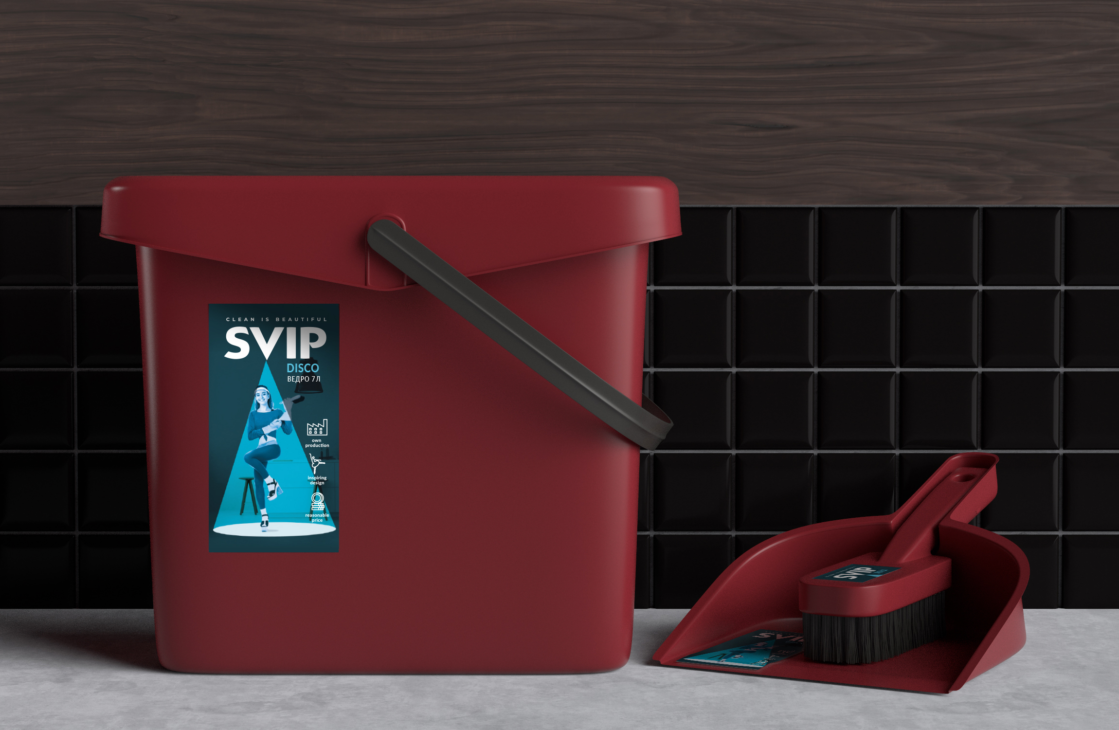 Clean Dancing: Rebranding of SVIP Cleaning Accessories Created by Ohmybrand