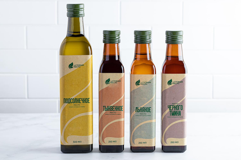 Nastoyaschee Maslo First Cold Pressed Oils Created by Alexander Brazhnik