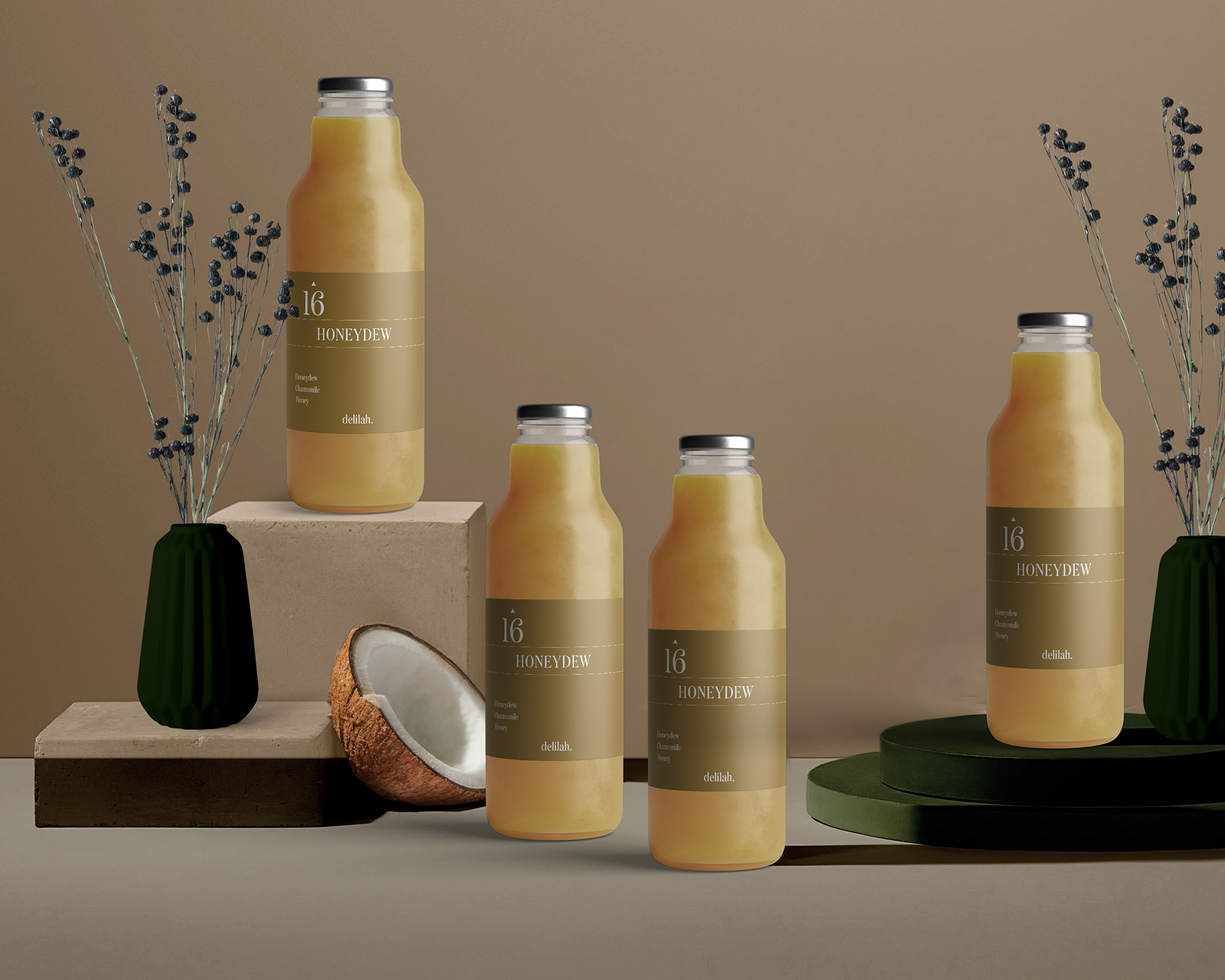 A Concept for Delilah-Natural Herbal Tonics Created by Monograph&Co.