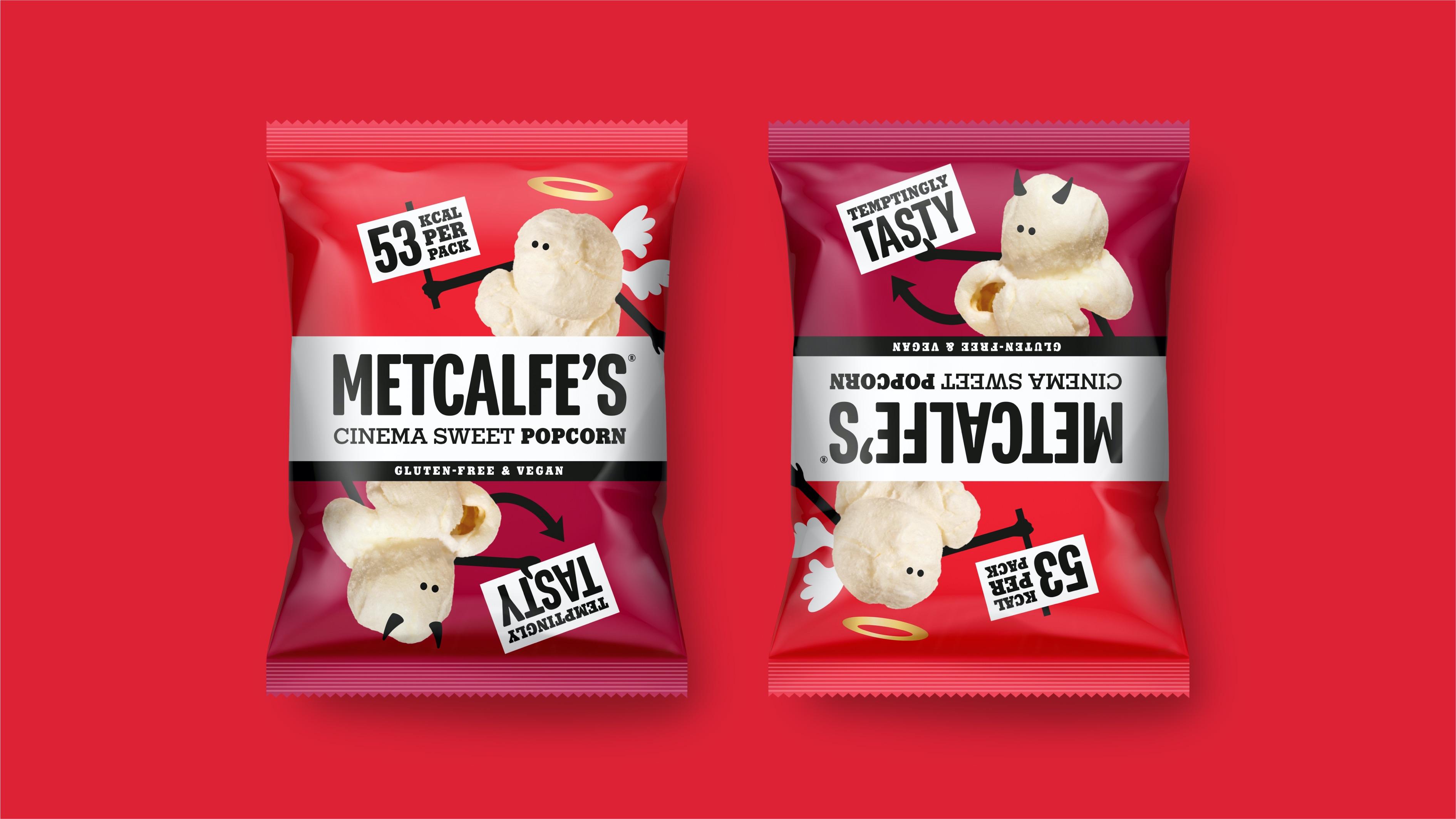 Derek&Eric Create Metcalfe's Popcorn and Snacks Brand and Packaging Design