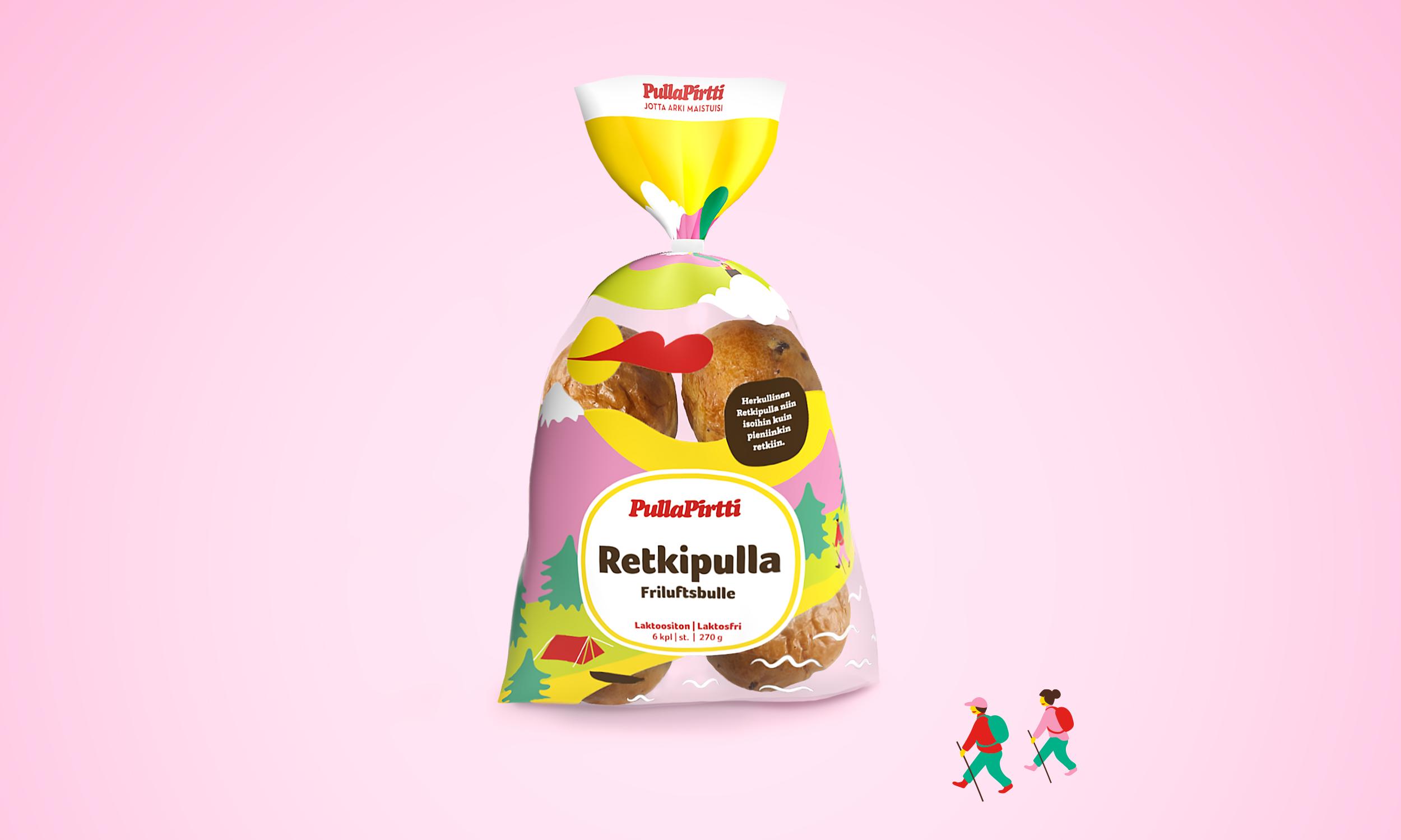 Retkipulla Raisin Bun Packaging Design for Pulla-Pirtti by Mint Station
