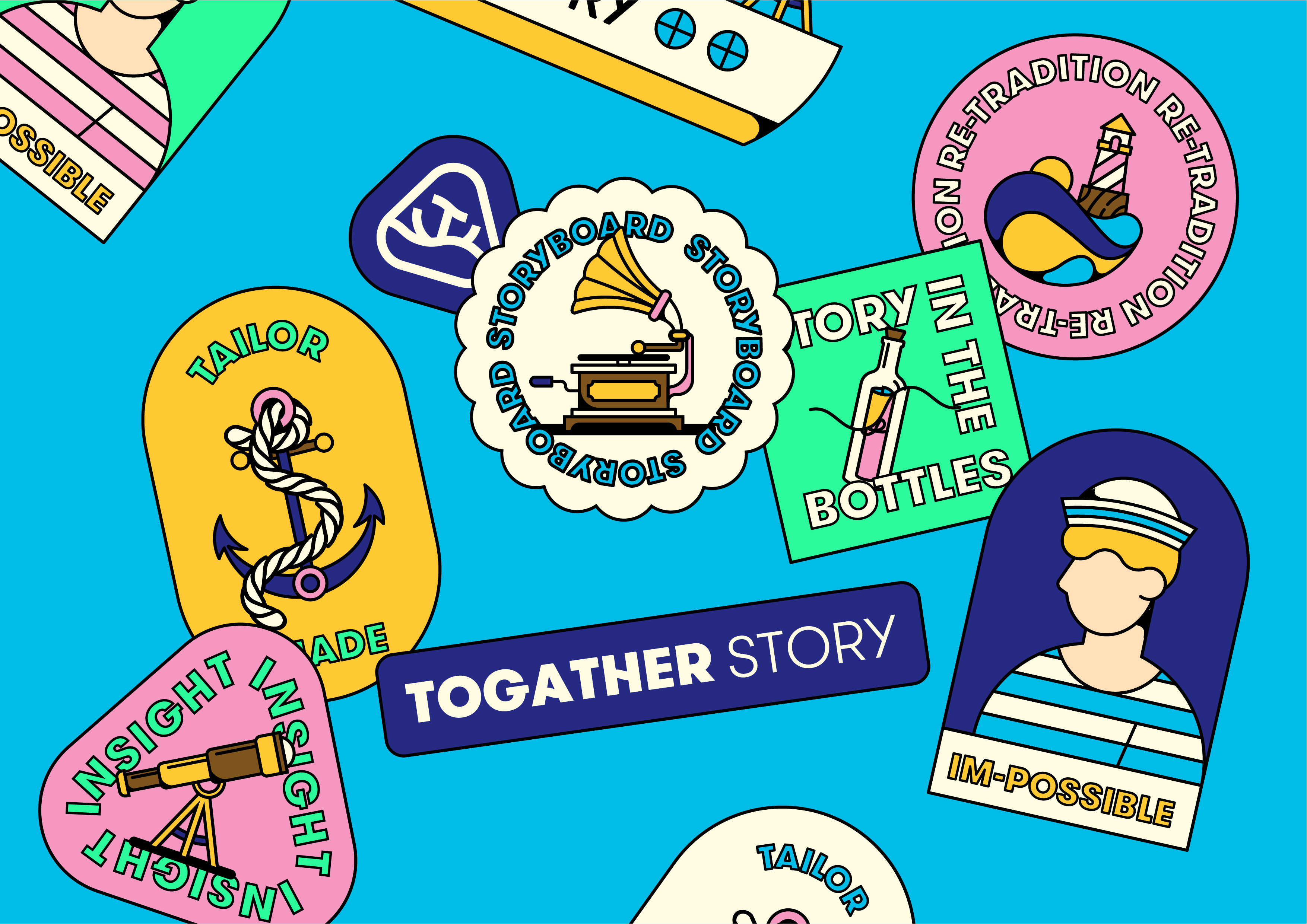 Togather Story Brand Identity Design by Higgs Design
