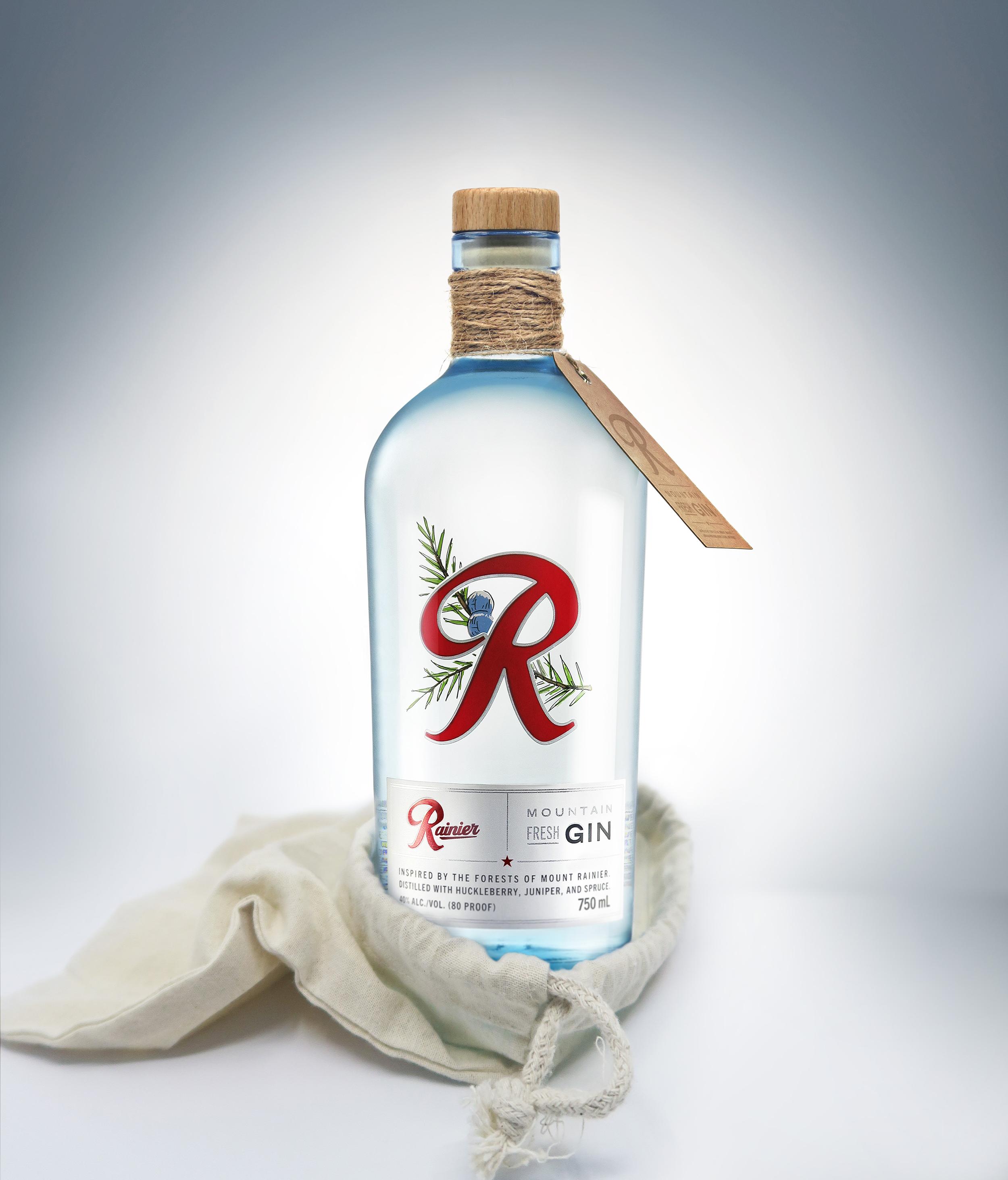 Barker Brand Partnerships Create Packaging Design for Rainier Mountain Fresh Gin