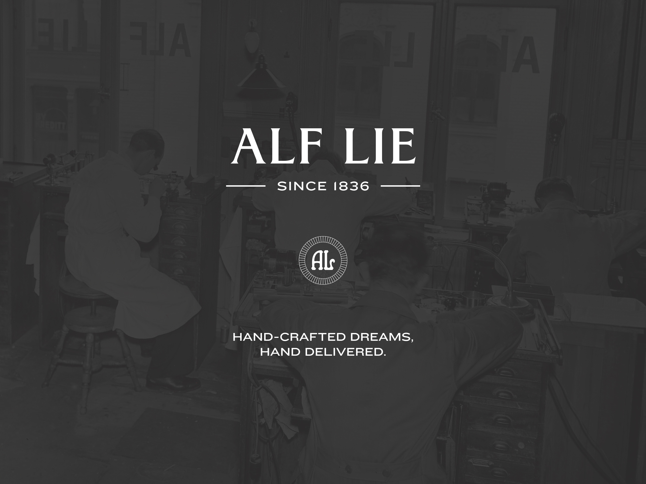 Hand Crafted Dreams, Hand Delivered Branding for Alf Lie Watches by Frost Creative