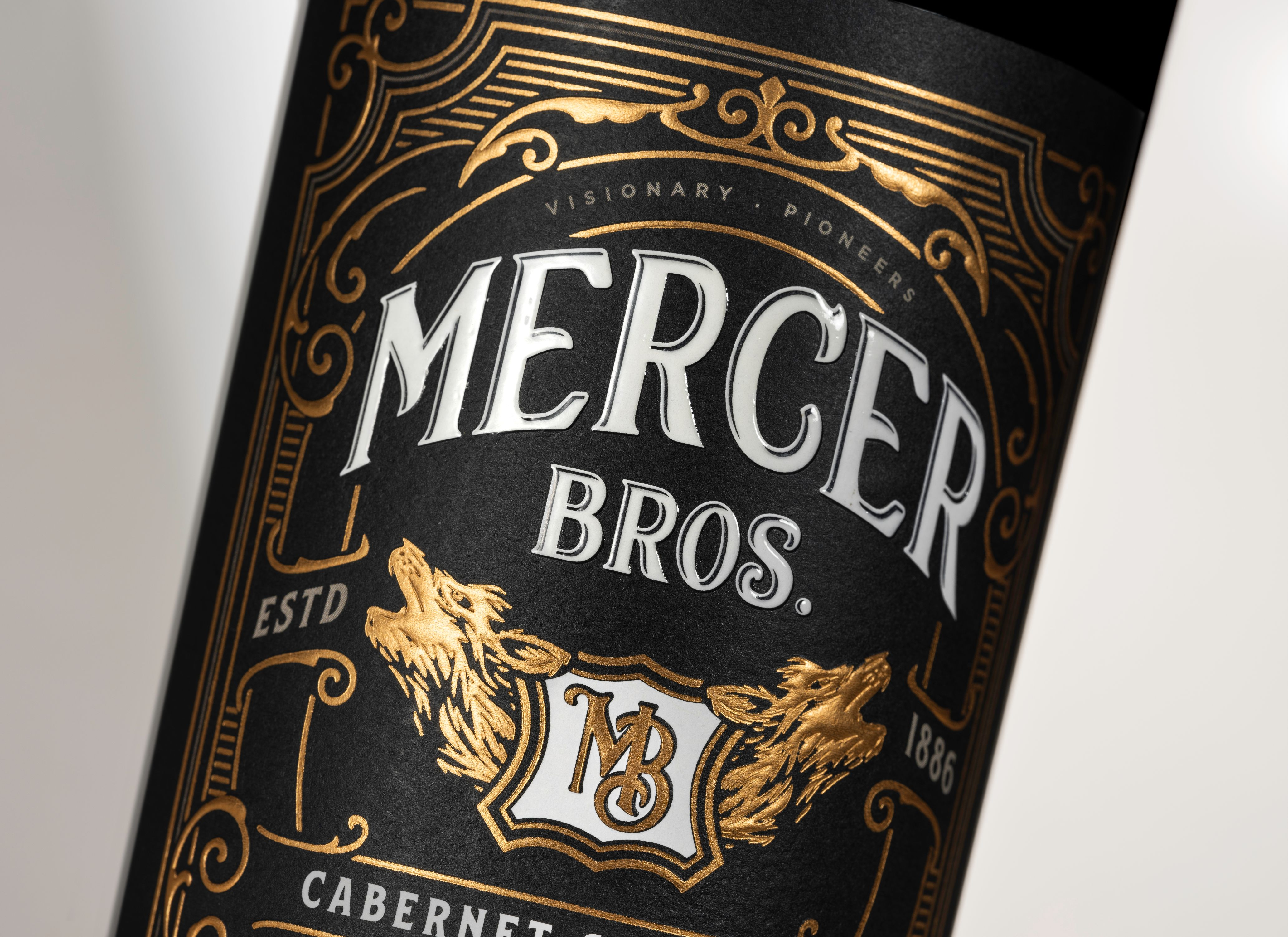 Mercer Bros. Wine Packaging Redesign and Reimagined with Attitude by Affinity Creative Group