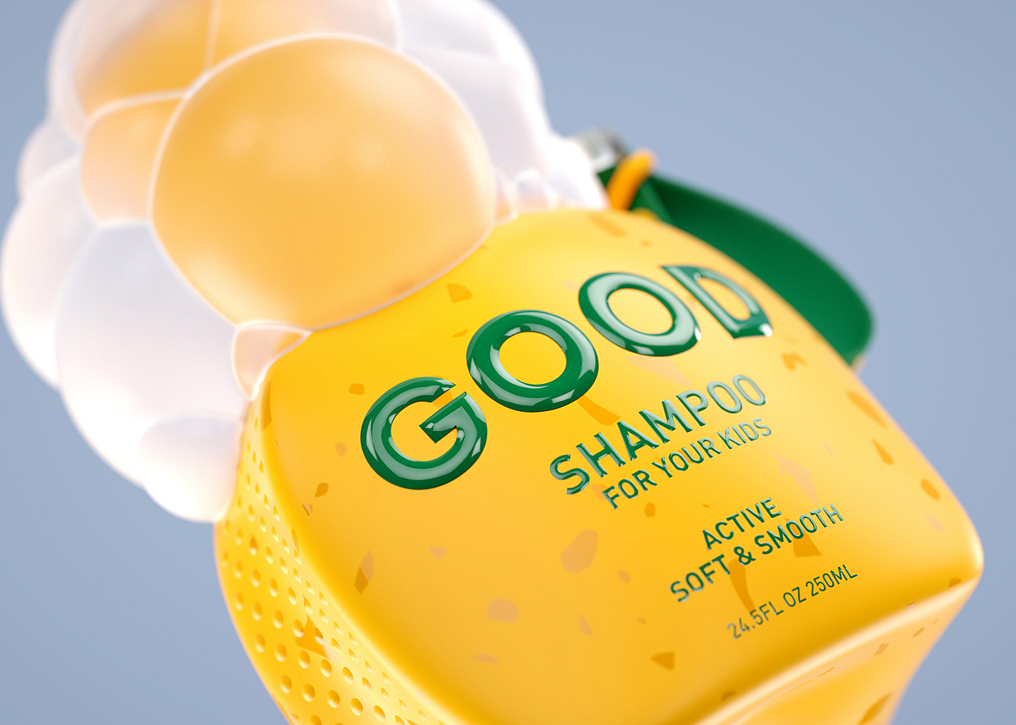 Concept For Natural Shampoo and Body Wash For The Whole Family