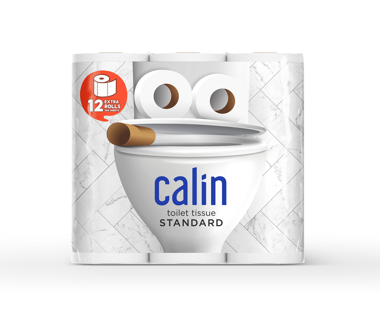 Prompt Design Creates Concept Packaging Design for Calin Toilet Tissue