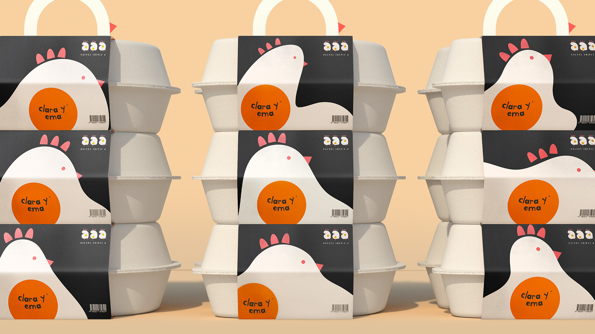 Liquid Flowing Branding for Eggs Created by Creamos