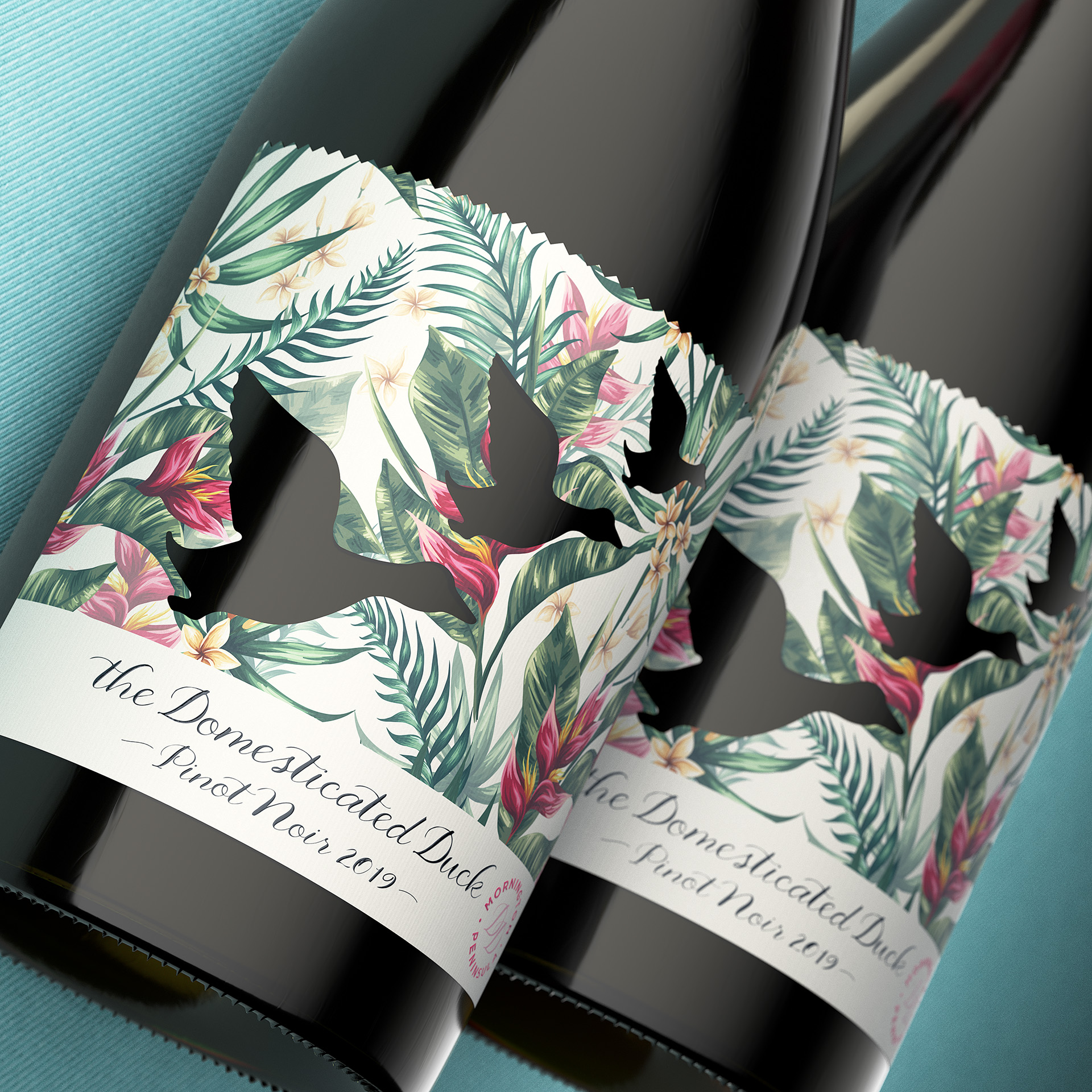 The Spice Agency Creates Domesticated Duck Pinot Noir Packaging Design that Flys off the Shelf