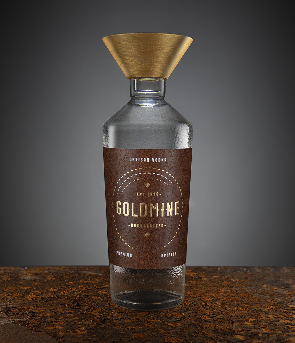 Goldmine Elements in Vodka Packaging Design Created by Javier Garduño Estudio de Diseño