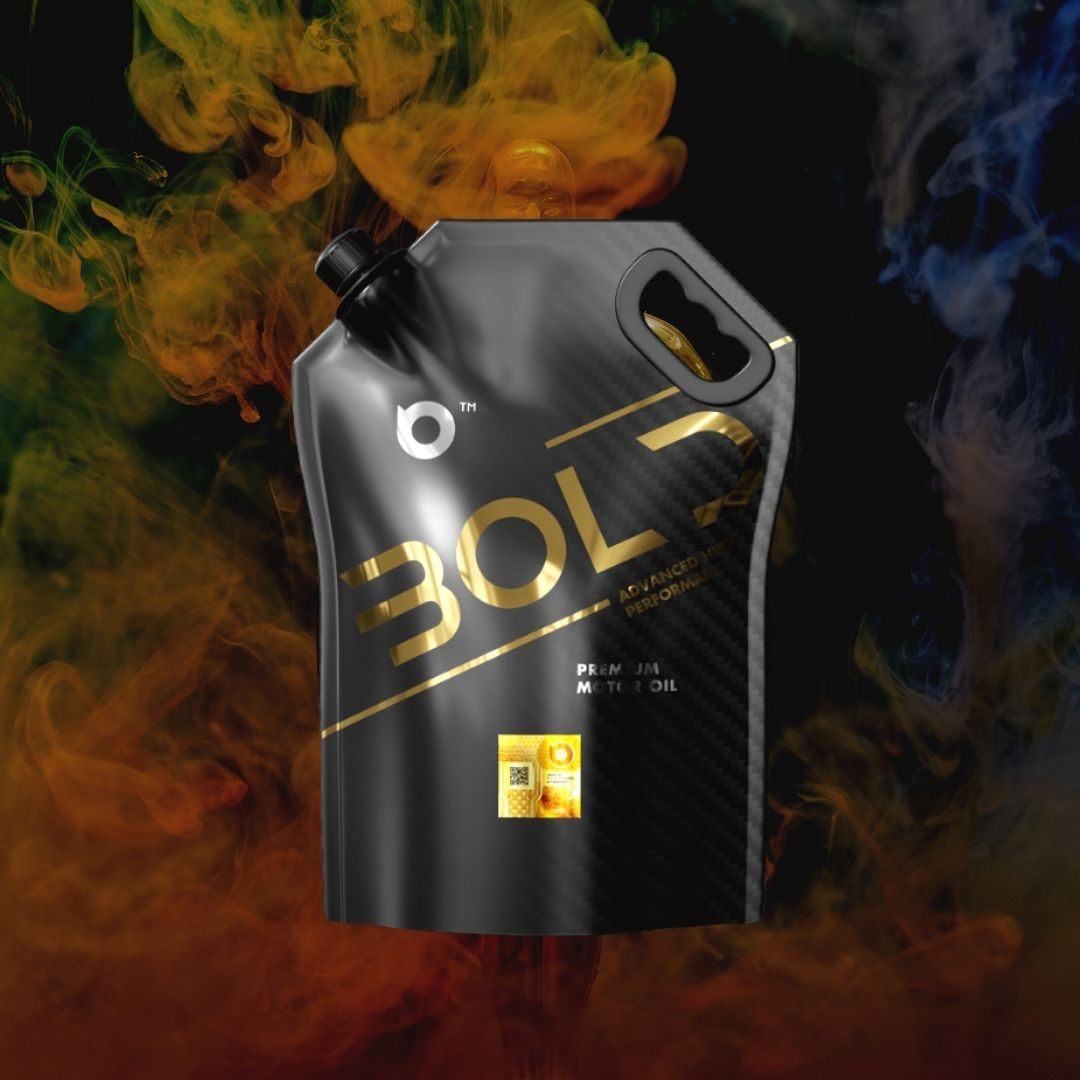 In-House Design by and for Bold Packaging Engine Oil