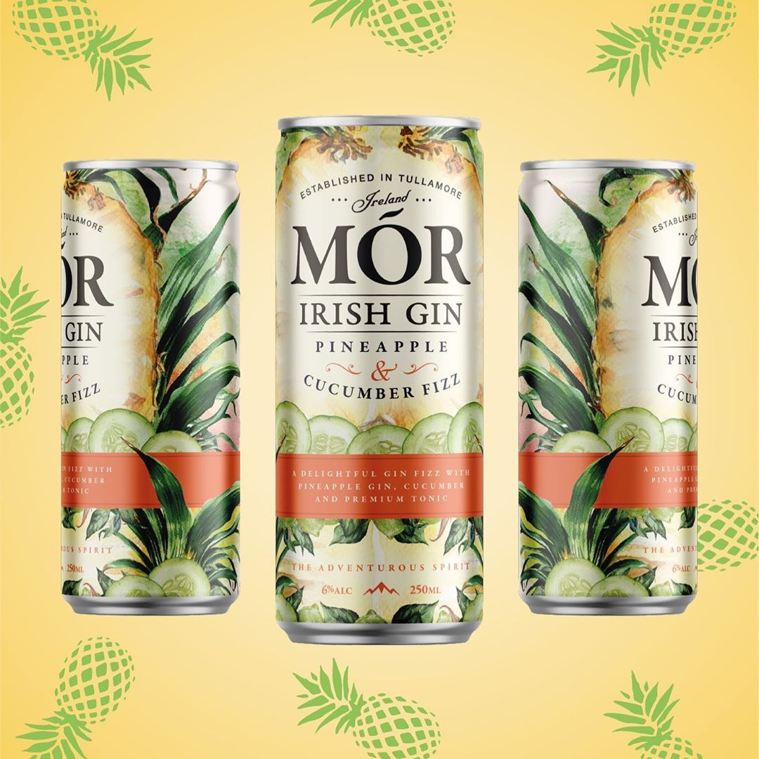 Mór Irish Gin, Gin and Tonic Can Designs by  Backbar Studios