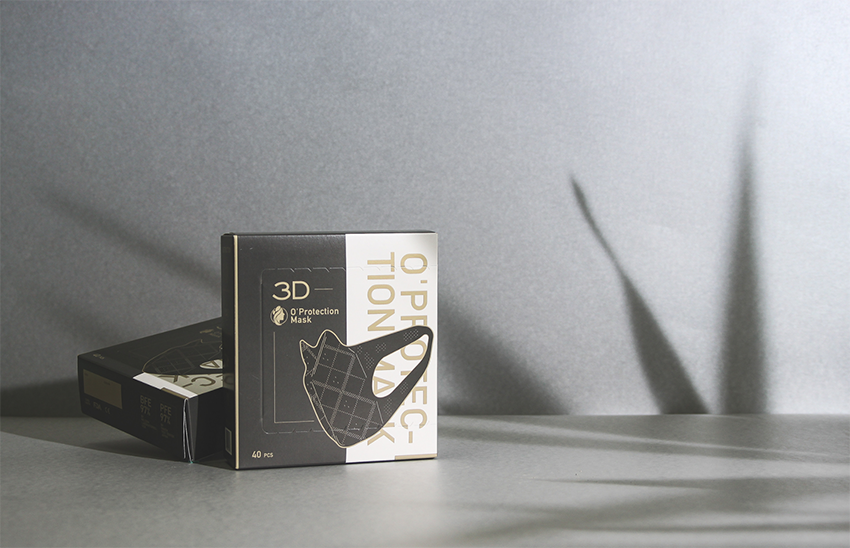 Aaoo Studio Create Goldimetics 3D O'Protection Mask Packaging Design