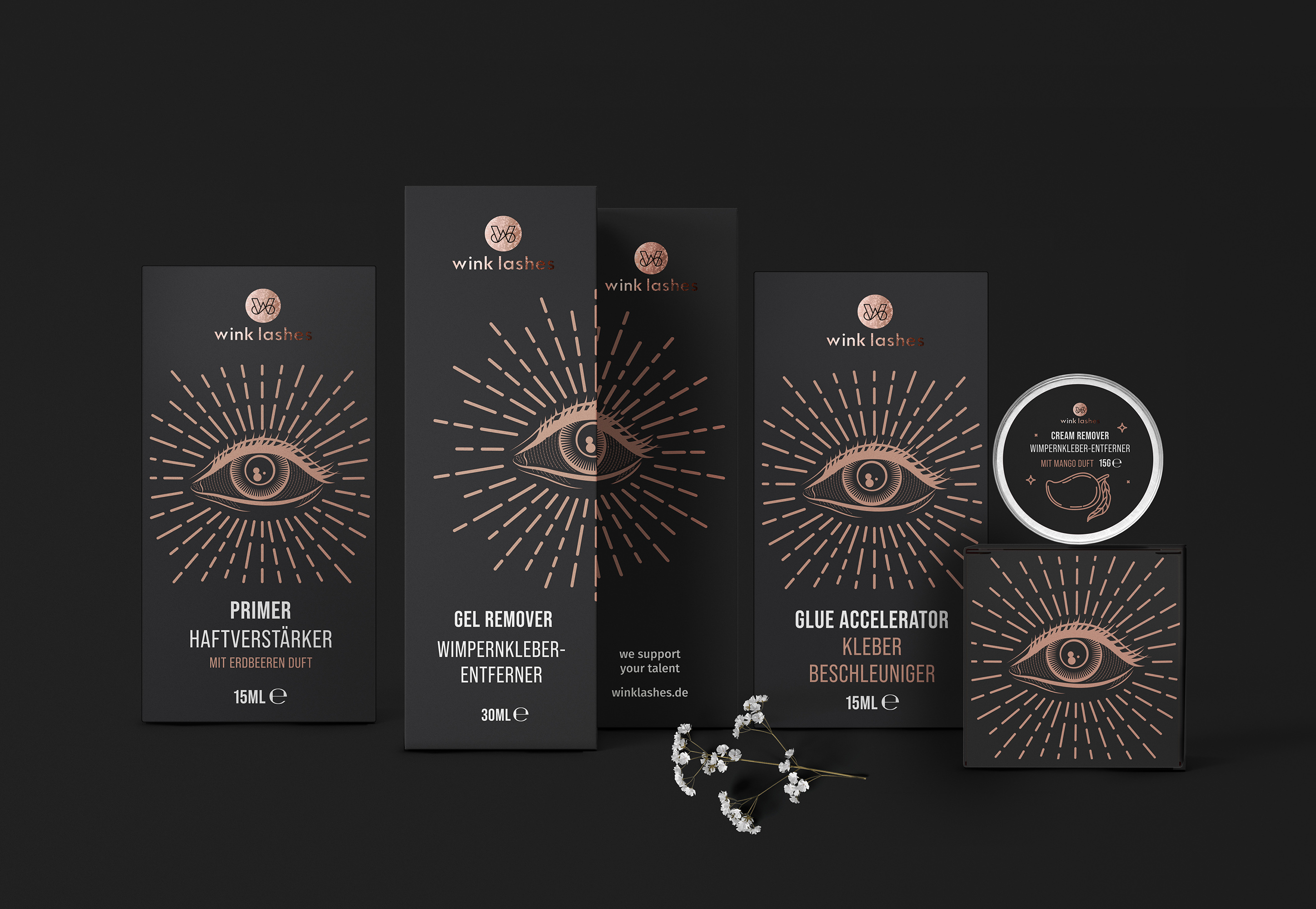 Olga Takhtarova Created Packaging Design for the Brand Wink Lashes