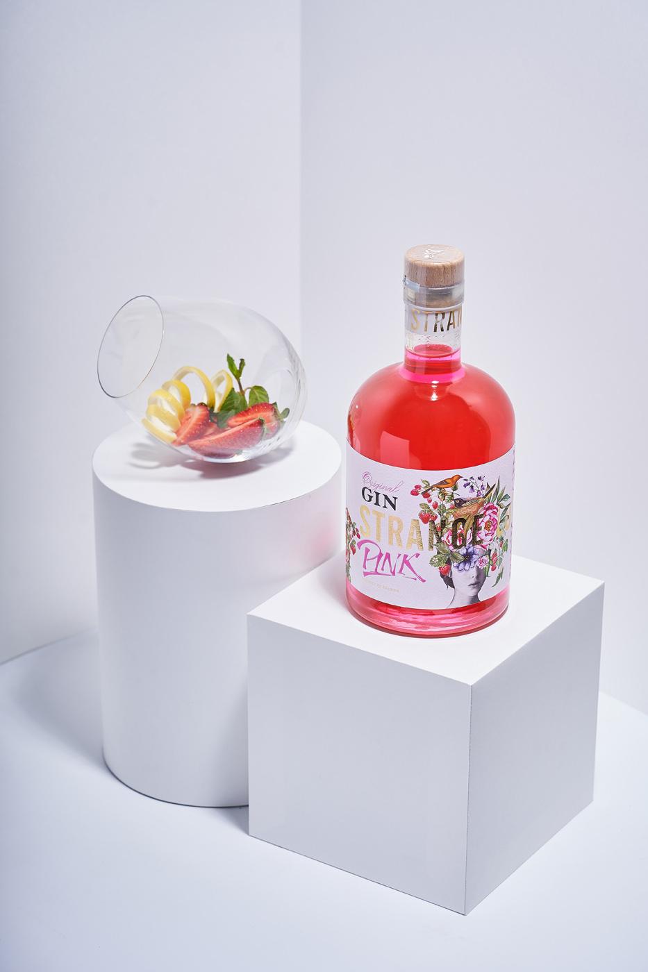 43oz.com Design Studio Create Craft Gin Label Design for Strange Luve Pink