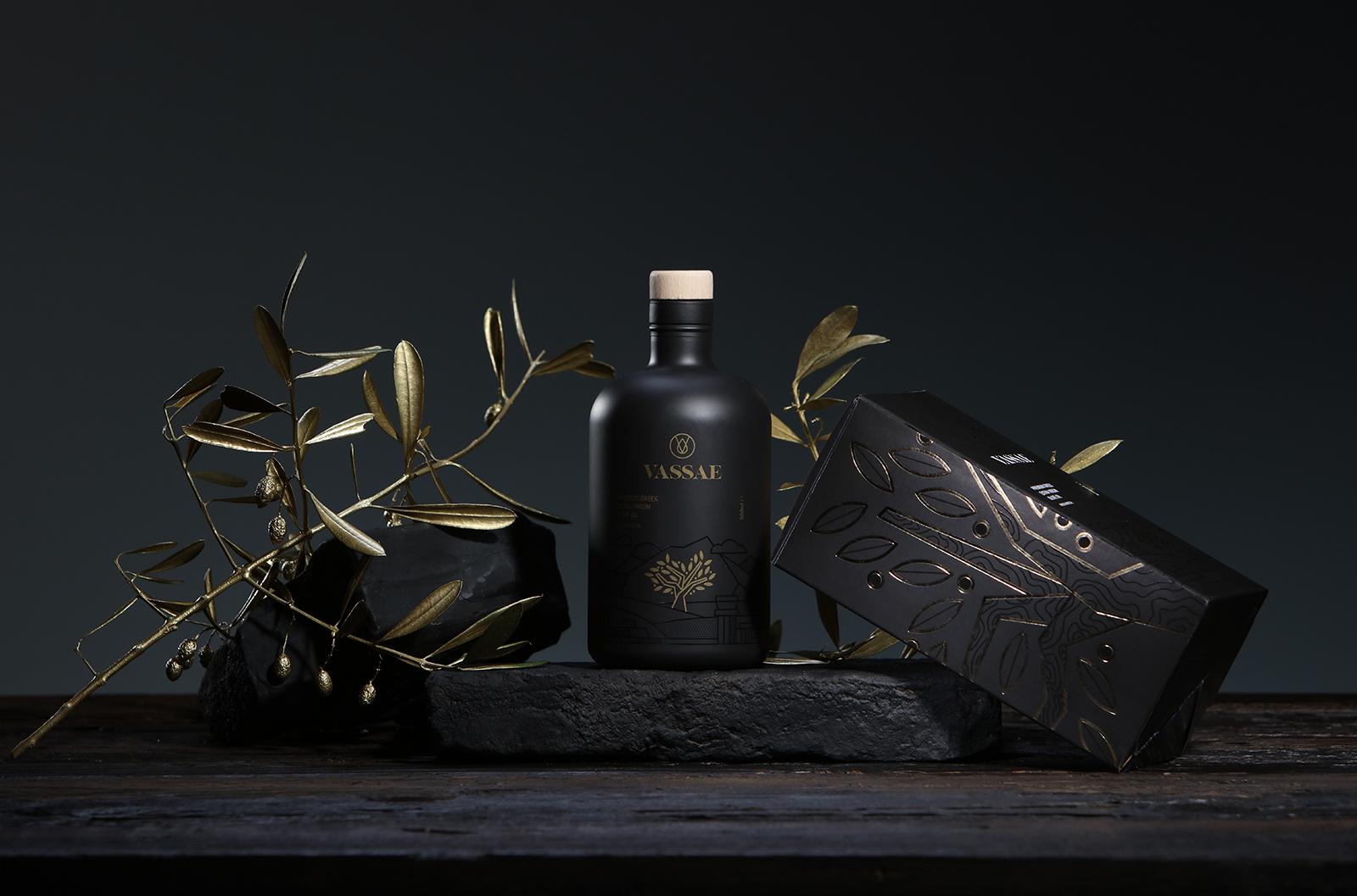Identity and Packaging Design for Vassae Premium Olive Oil by Smirap Designs