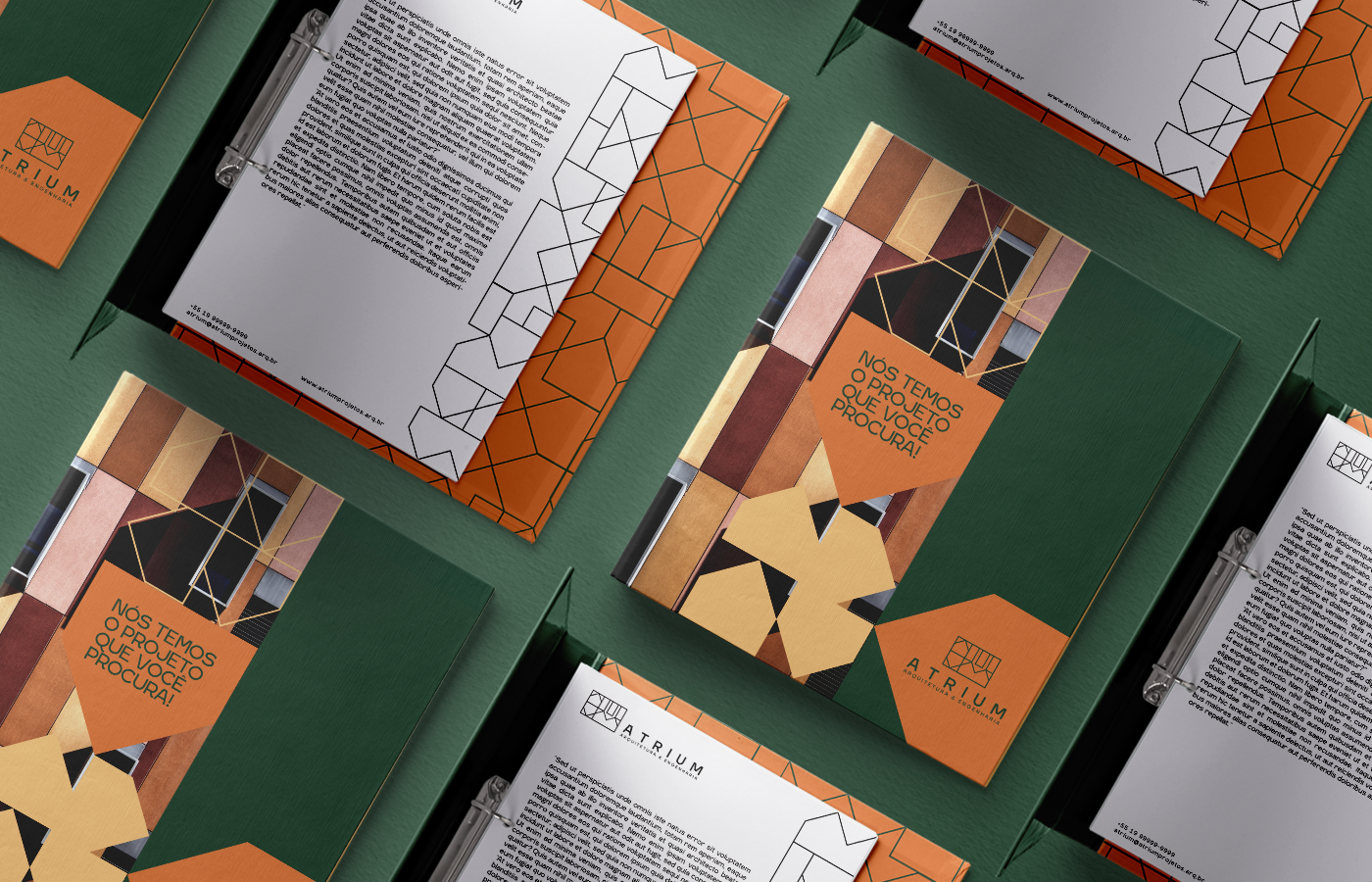 DSD Studio Atrium Arquitetura and Engenharia Brand Identity