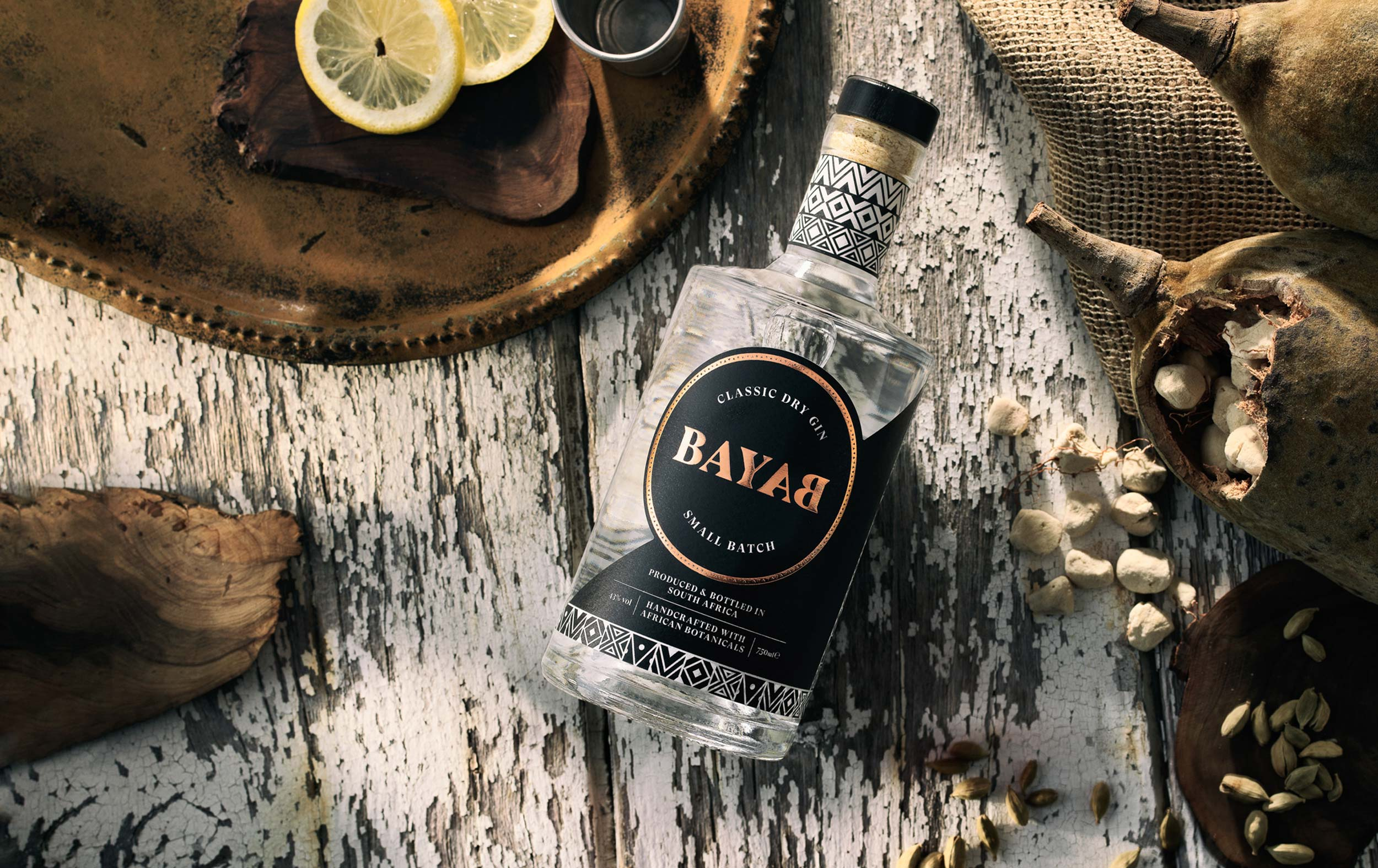 Boldly Creates Distinctive Brand and Packaging Design for Bayab Gin