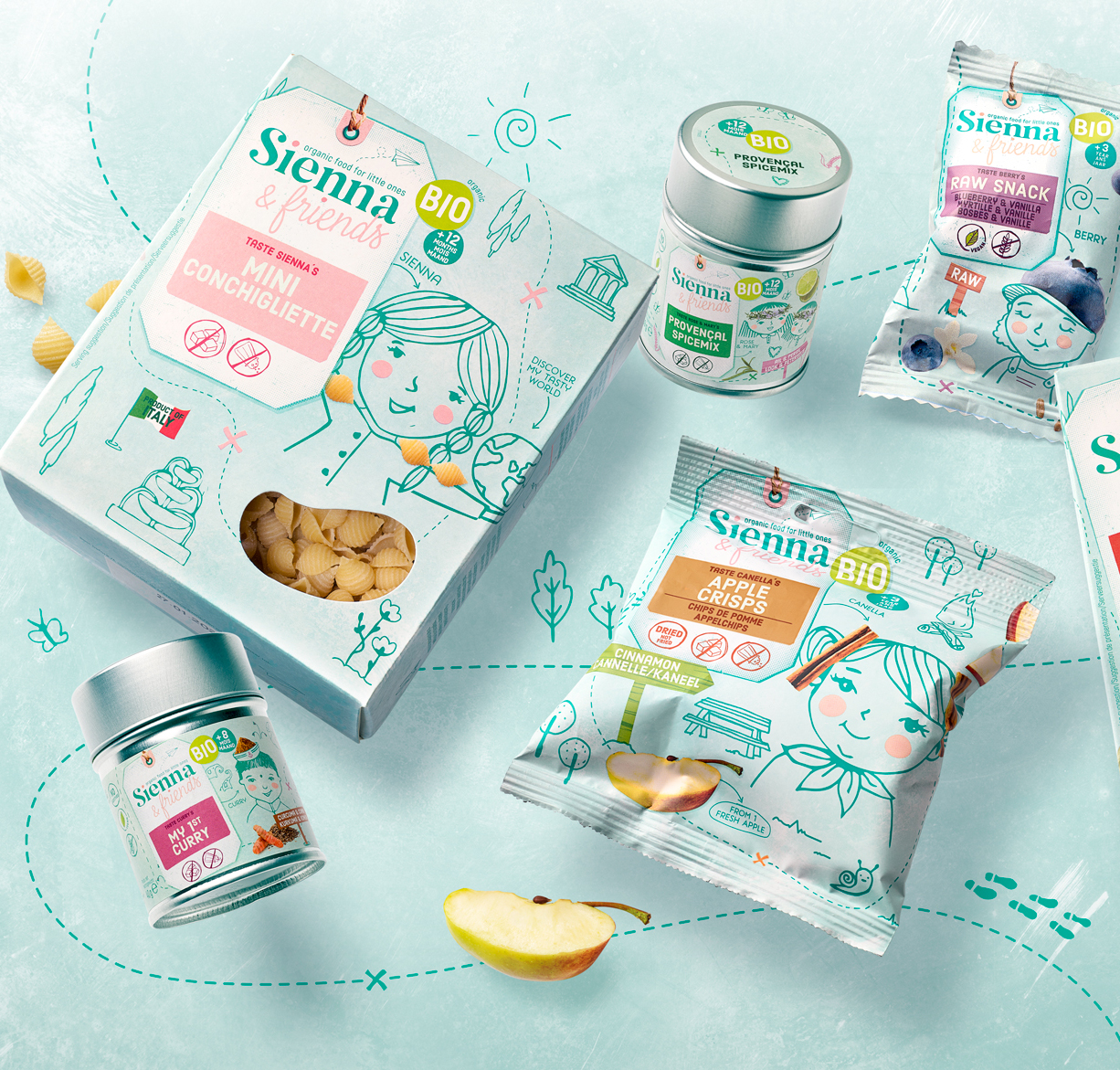 Quatre Mains Creates Packaging Design for Little Foodies