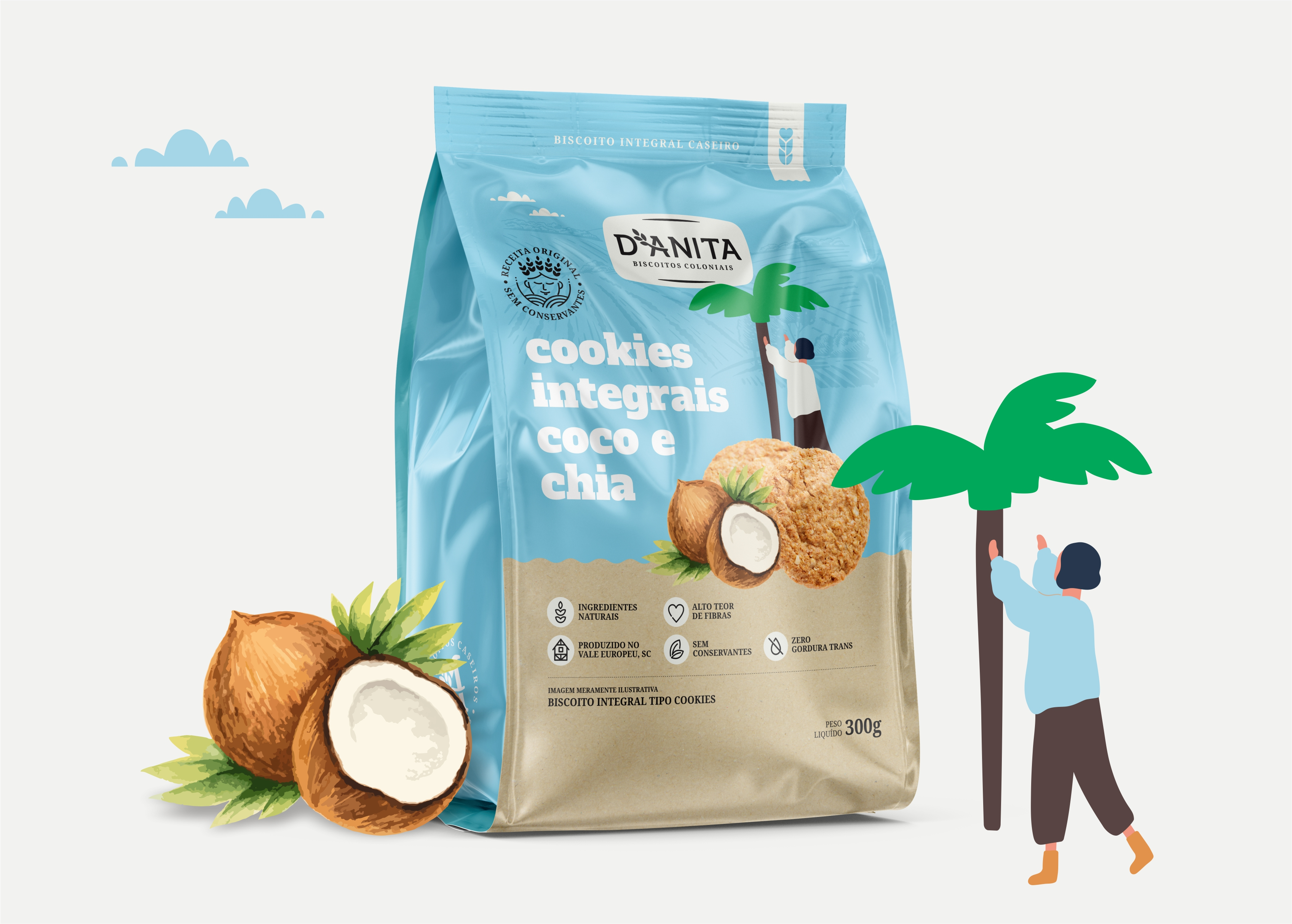 Santa Catarina Whole Cookies Brand and Packaging Design by RPD Design