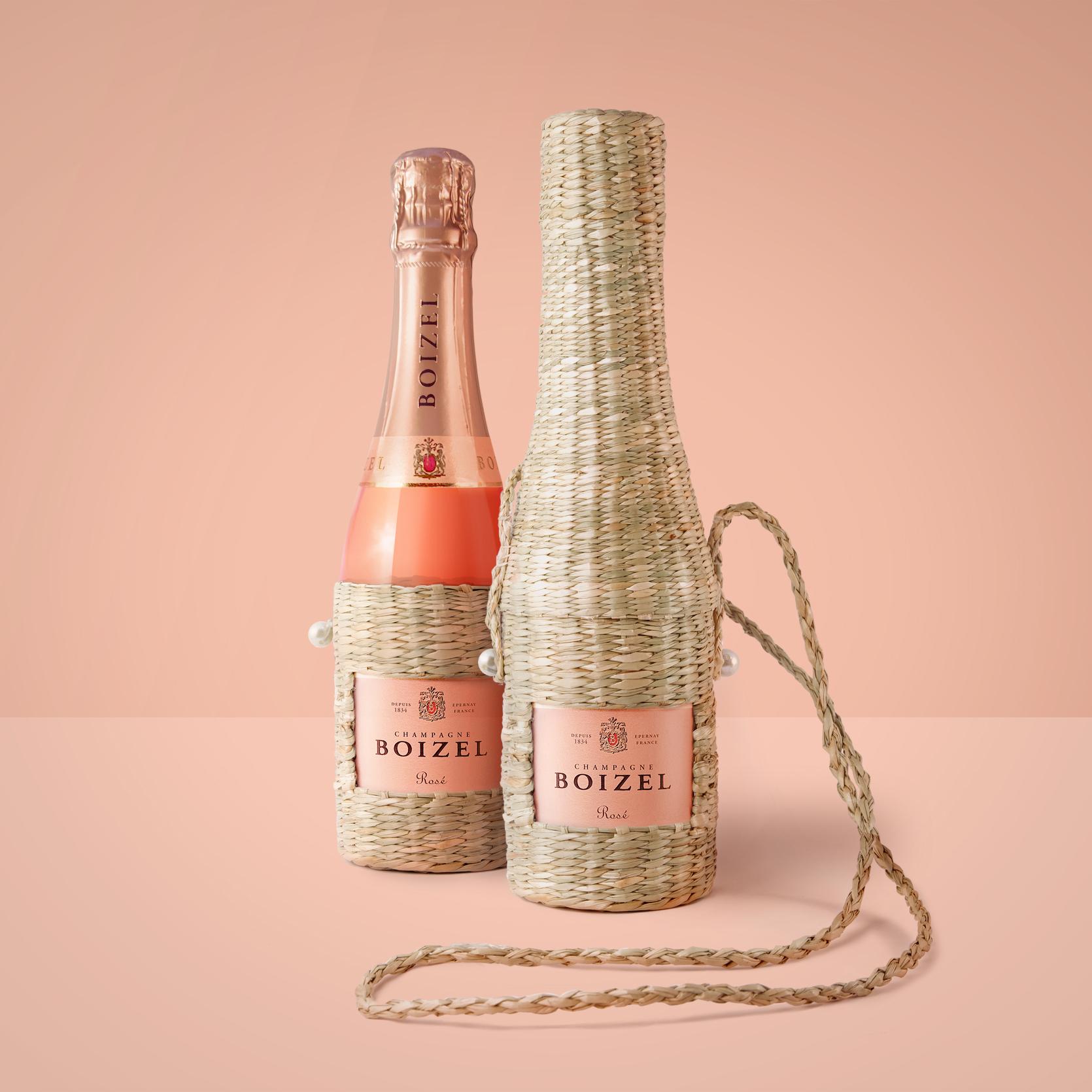 Pink Champagne Picnic-chic Pouch Designed by Delatour Design Paris