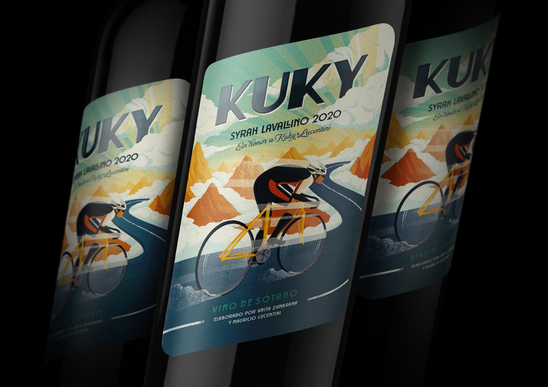Italian Bike Poster Tribute Label made by Jacomy Mayne