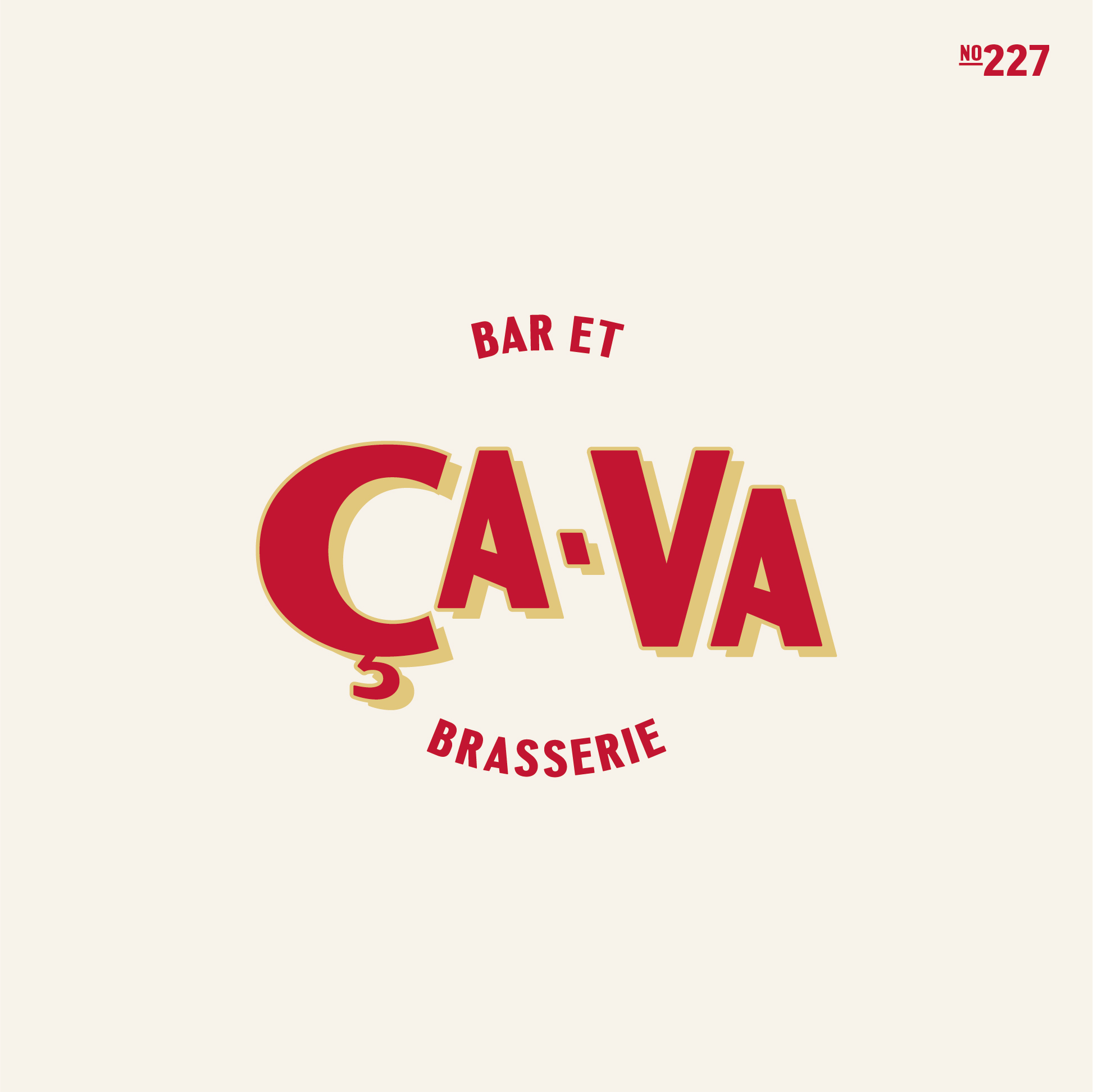 ÇaVa Brand Identity and Storefront Design for French Bar and Brasserie