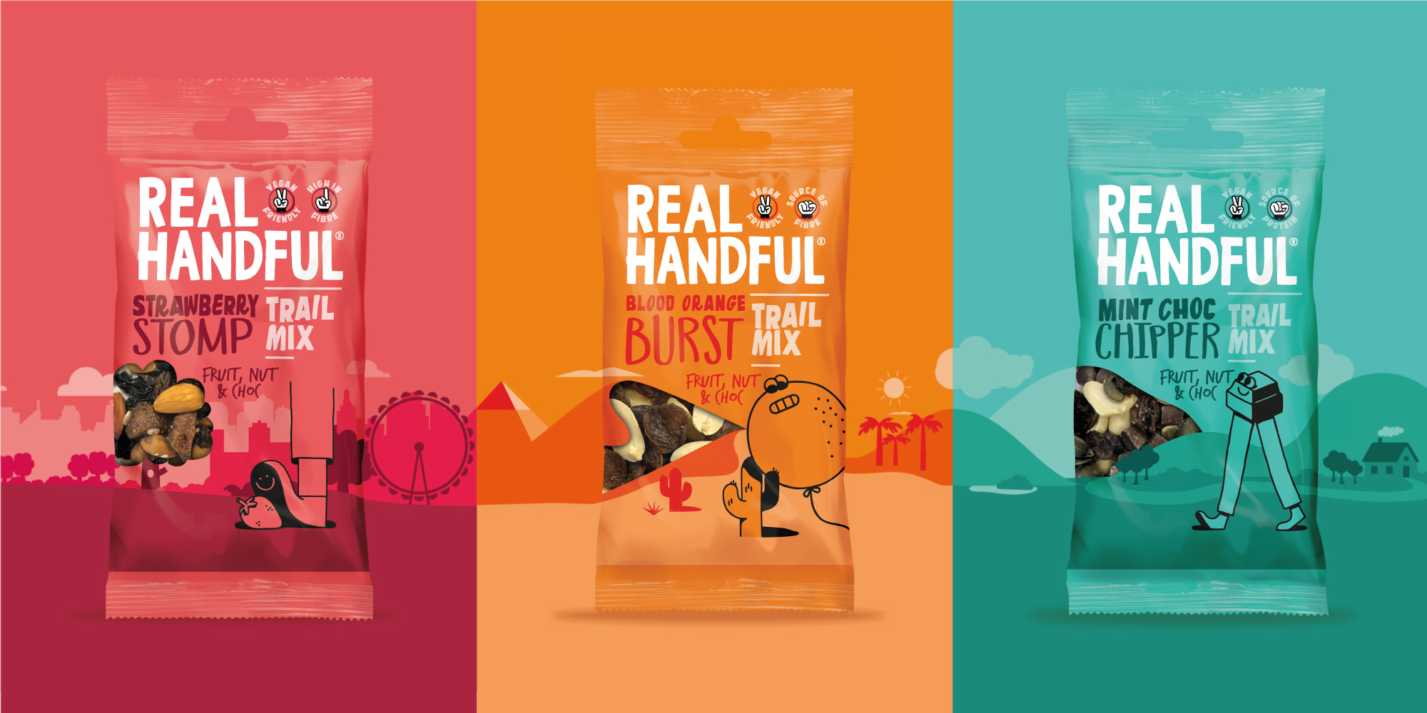 Brandon Refreshes Real Handful Brand and Packaging Design