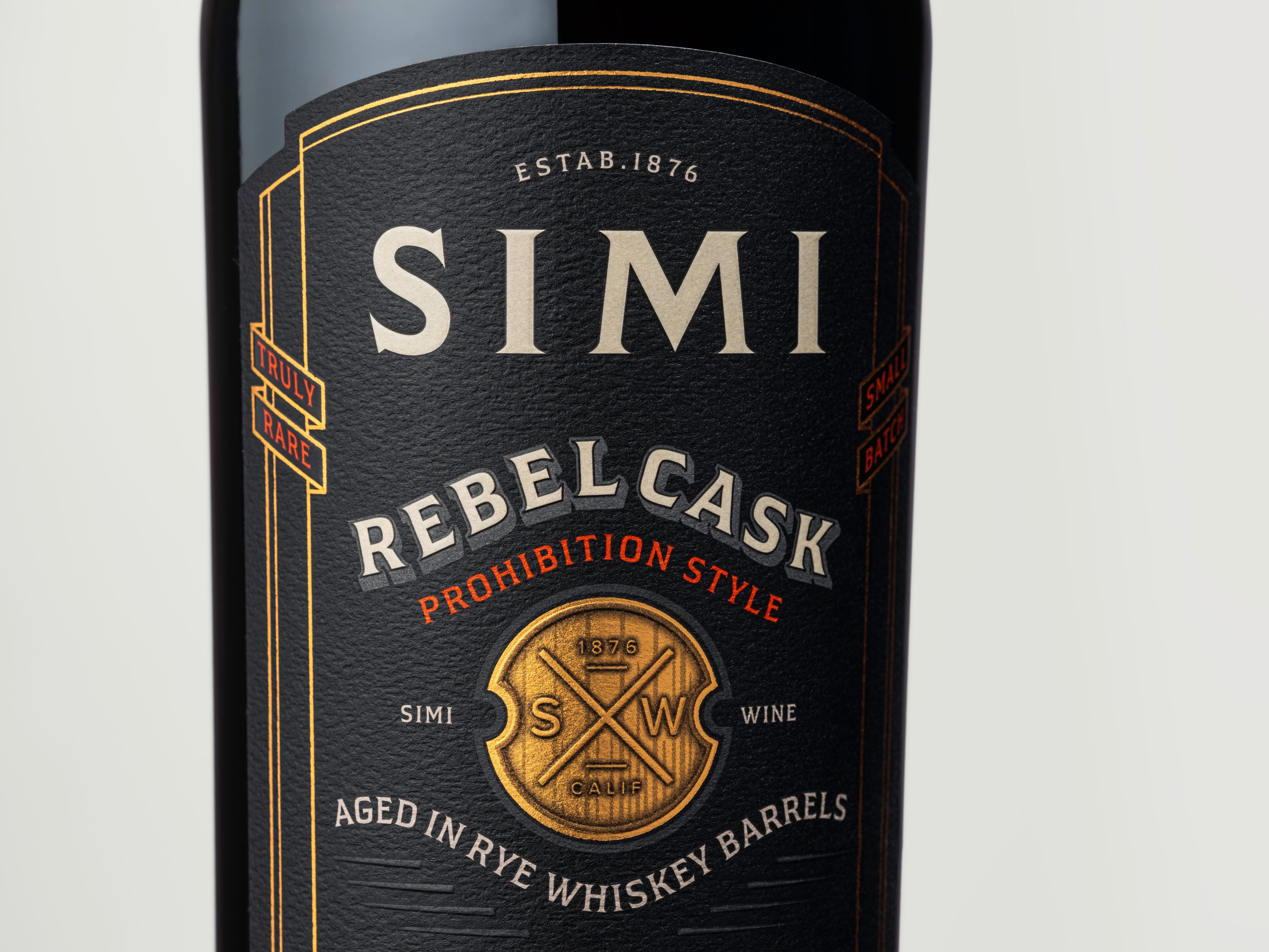 Rebellious Spirit Simi Rebel Cask Label Design by Affinity Creative Group