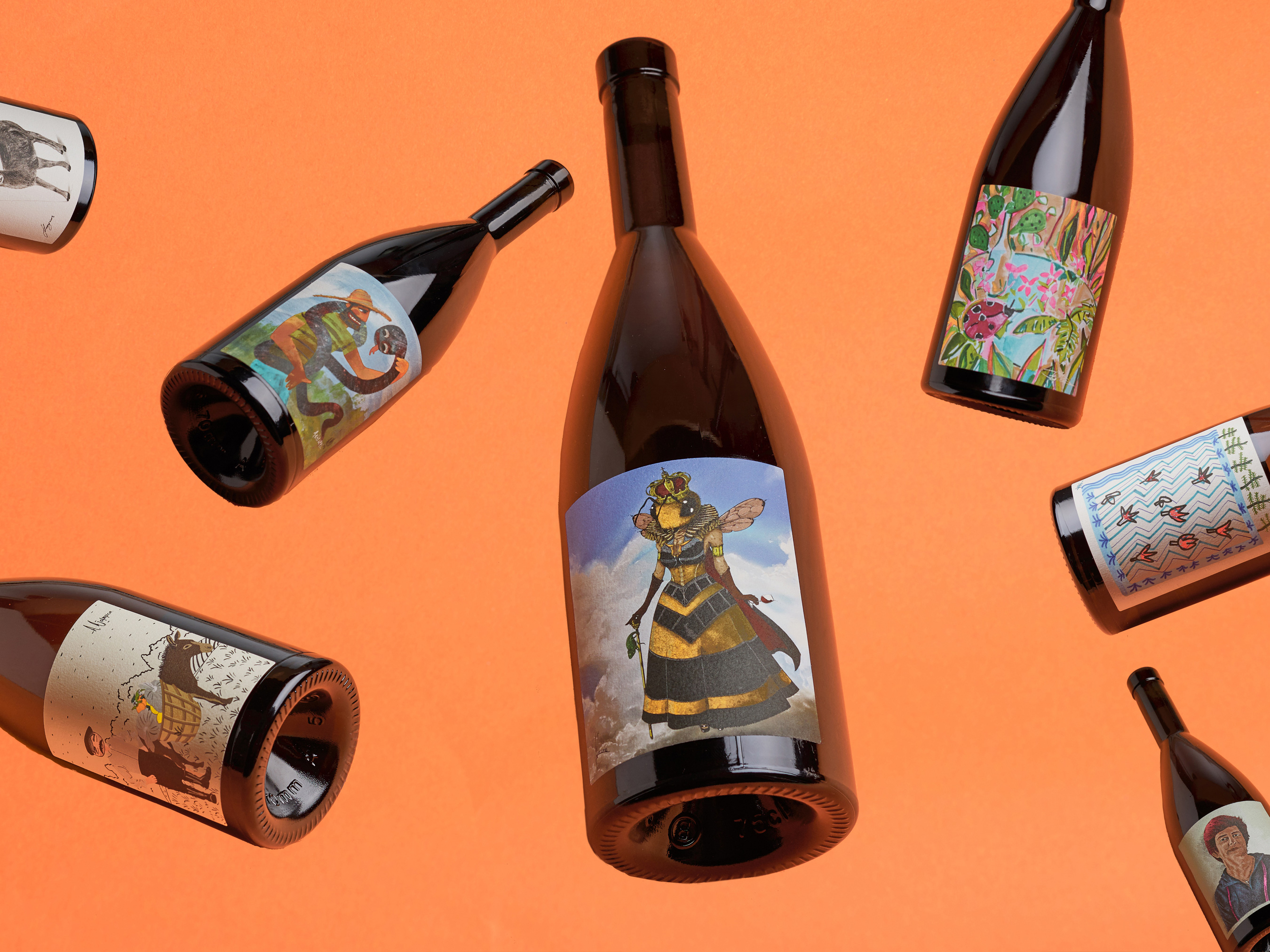 Marios Karystios Design Labels for Vouni Panayia Winery Microvinifications III
