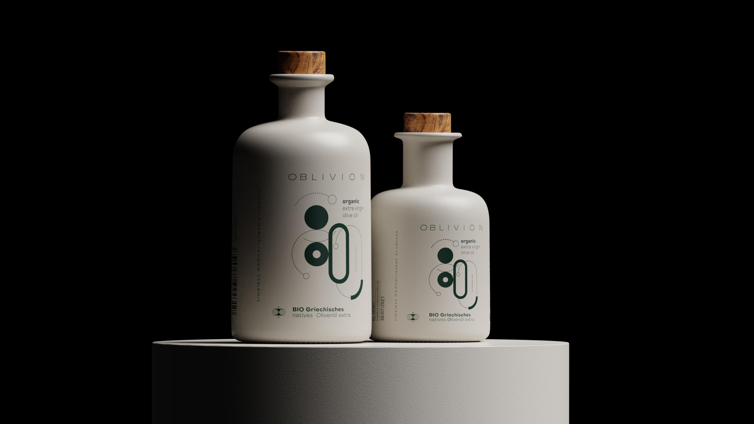 Artware Create Oblivion Organic Olive Oil Packaging Design