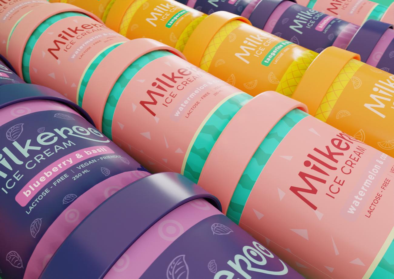 Milkeroo Ice Cream Brand Creation by Michael Lubrin