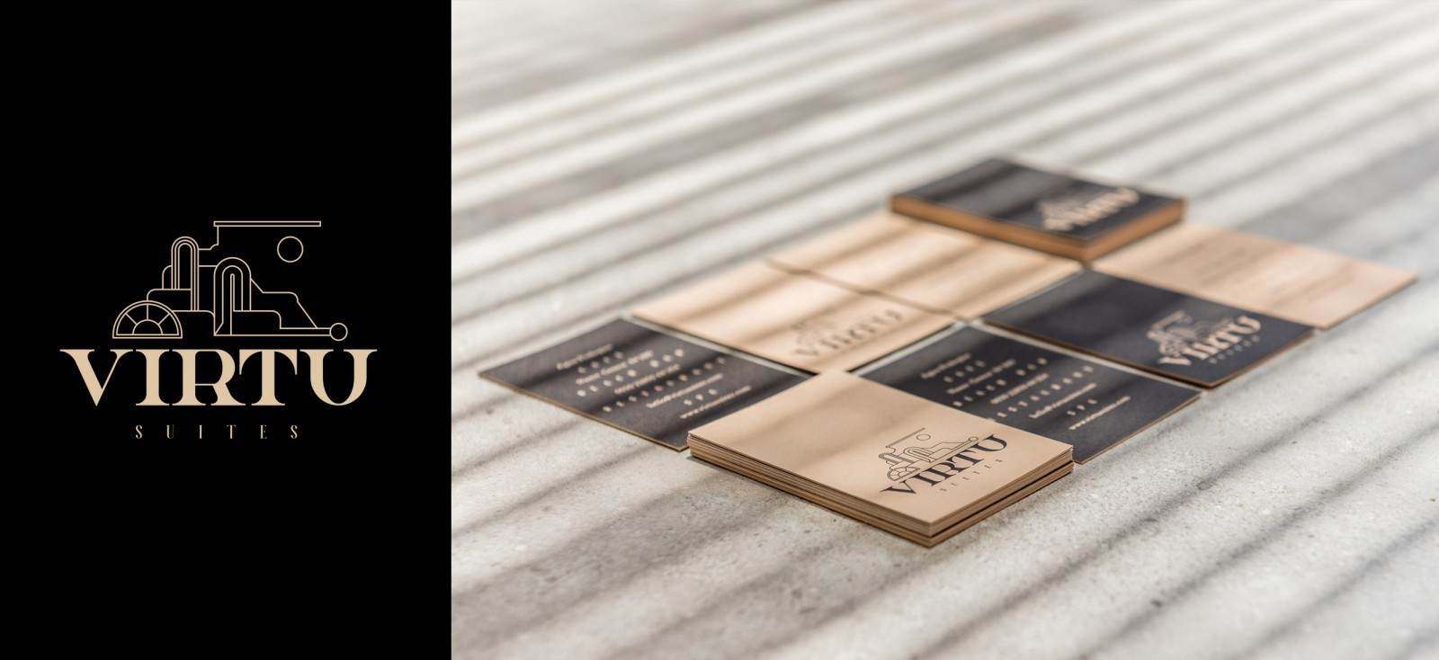About: Creative Office Creates Vurtù Suites Brand Identity Through a Custom Typeface and Illustration