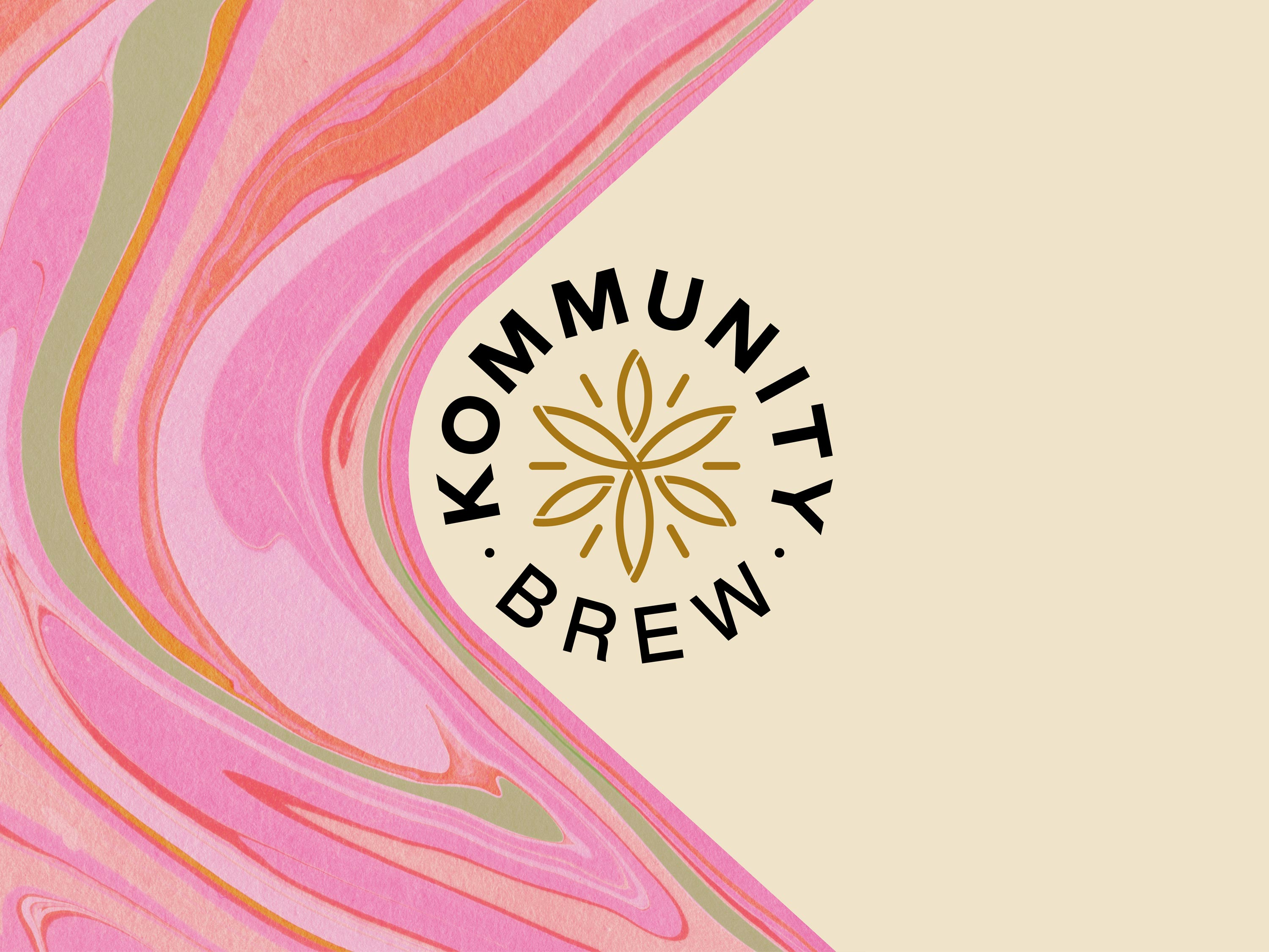 Kommunity Brew's Brand Identity and Packaging Design By Block