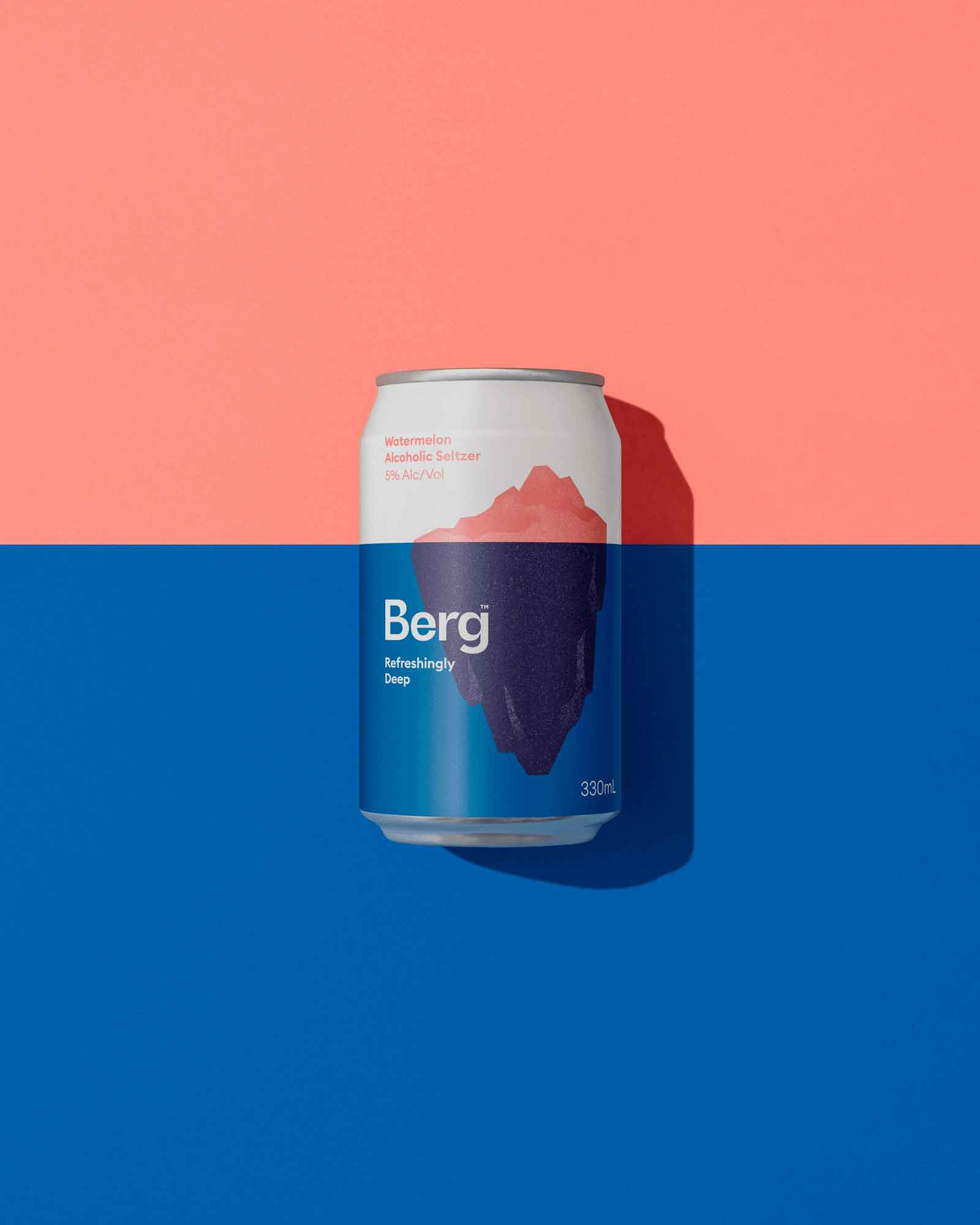 Refreshingly Deep Brand and Packaging Design for Berg Alcoholic Seltzer by Marx Design