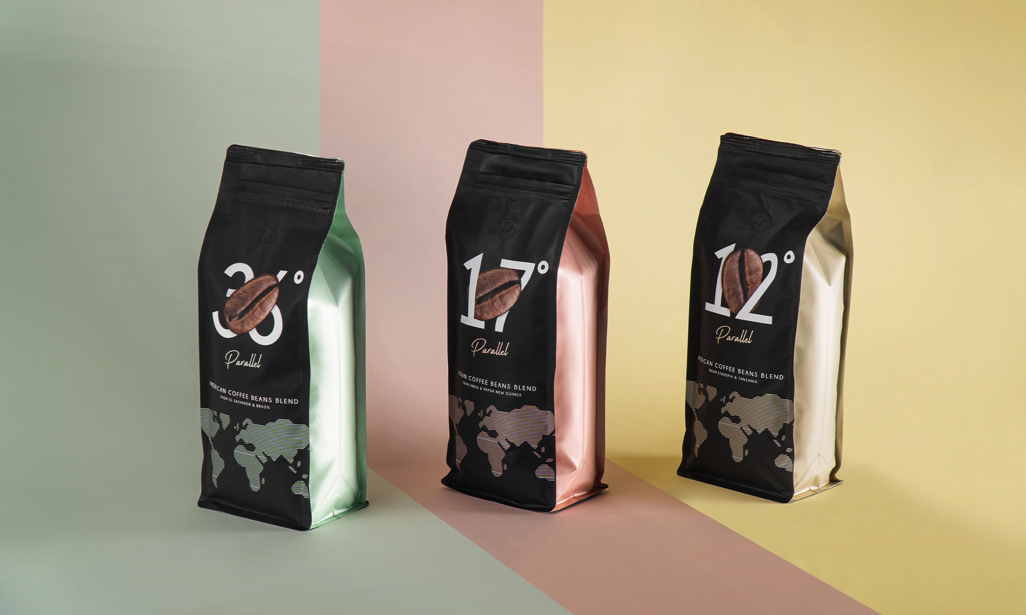 In-House Redesign of Parallel Premium Coffee Beans Blend Packaging