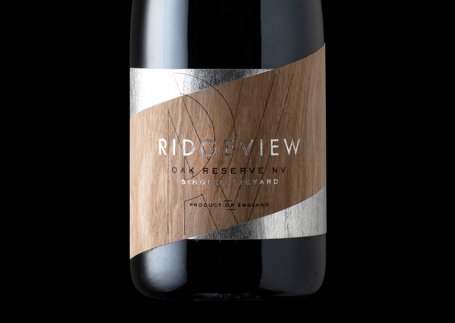 Ridgeview Oak Reserve Limited Release Sparkling Wine Packaging Design