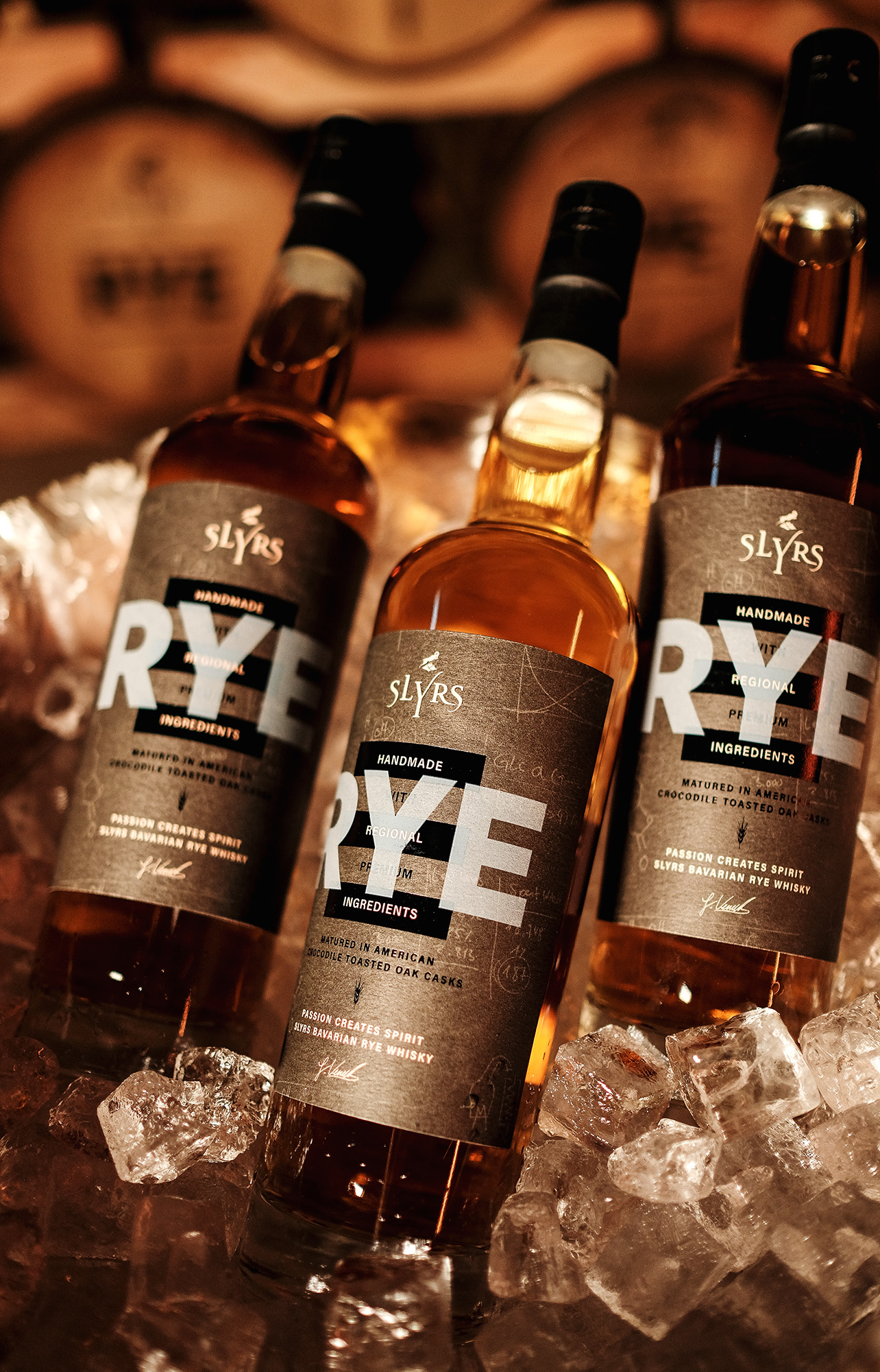 Germany Slyrs Rye Whisky Packaging Designed Michael Hanauer